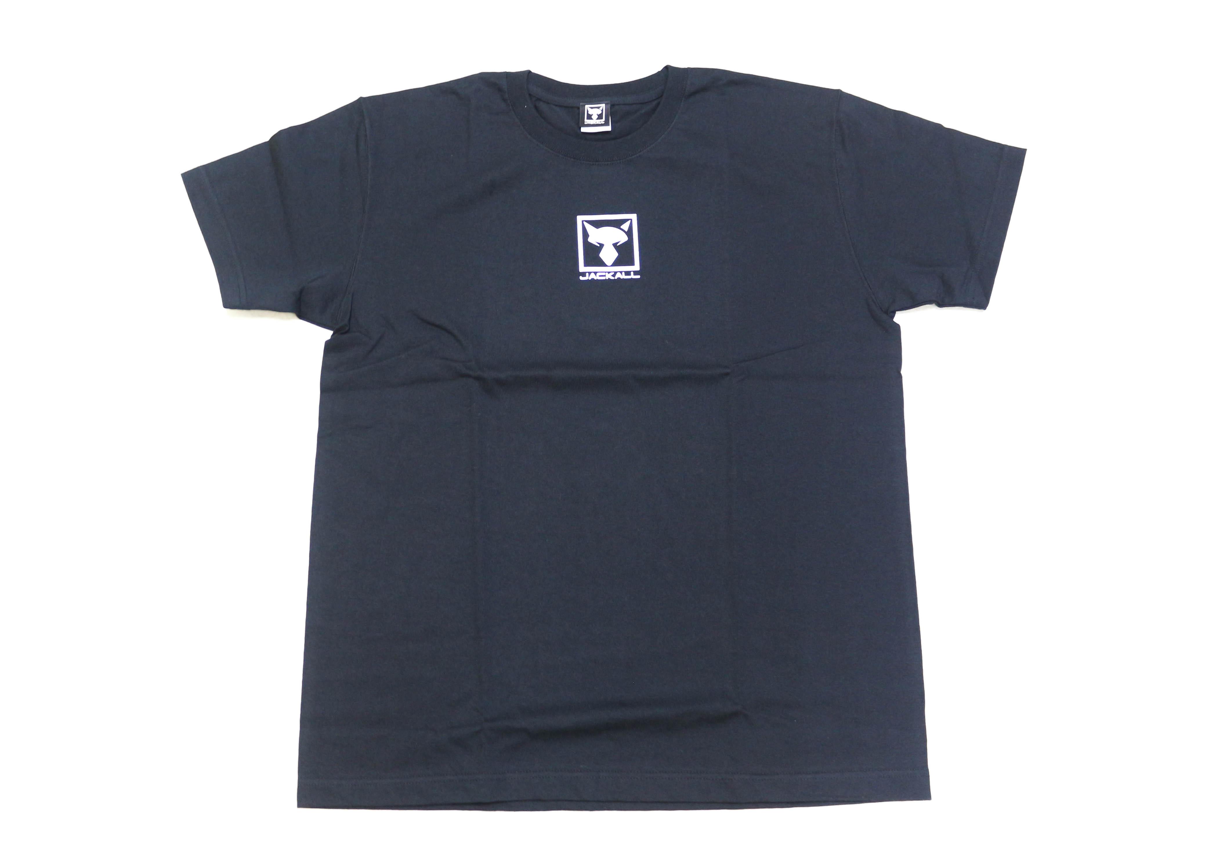 Jackall T Shirt Square Logo Black Size L (6643)