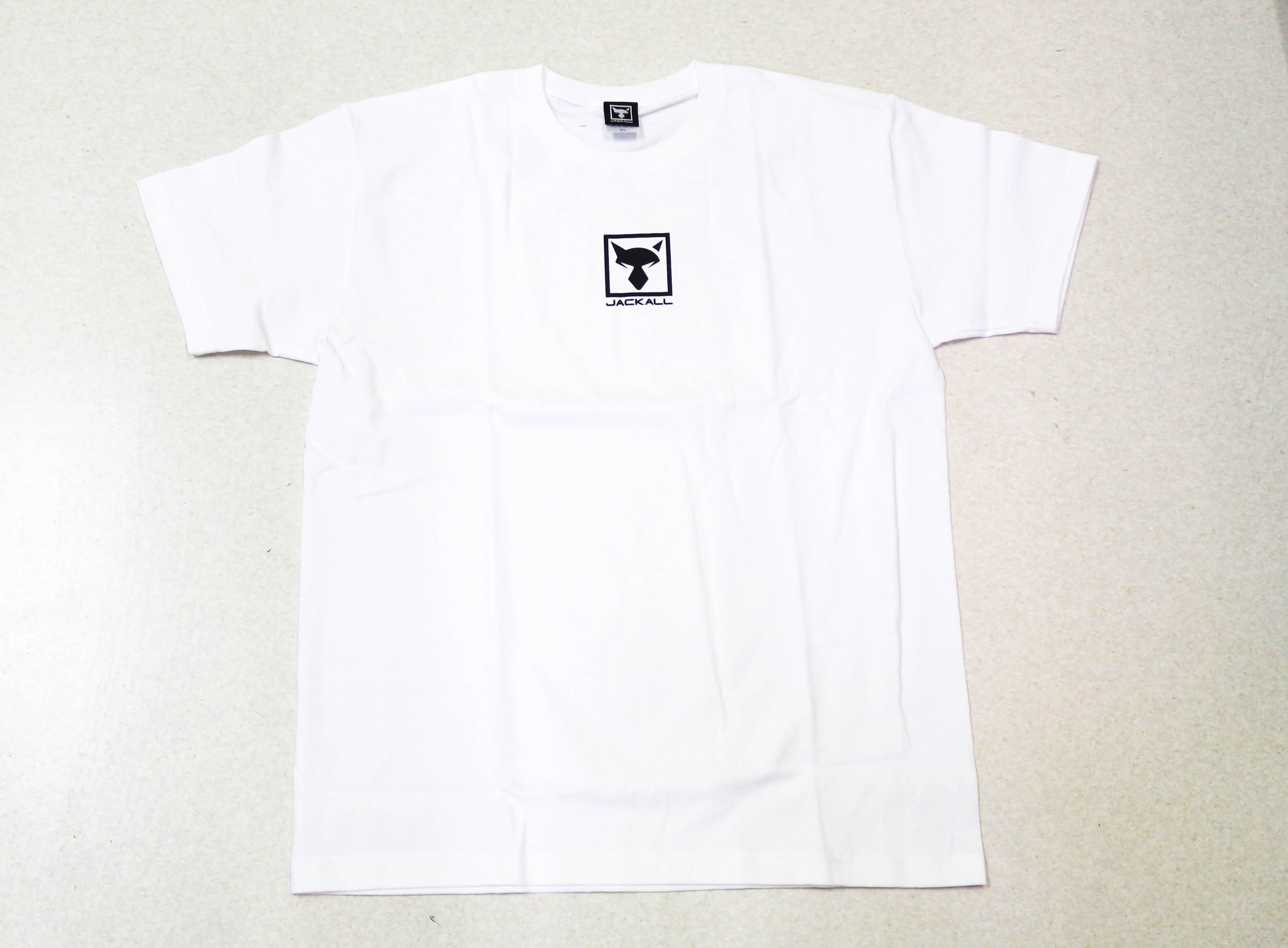 Jackall T Shirt Square Logo White Size XL (6681)