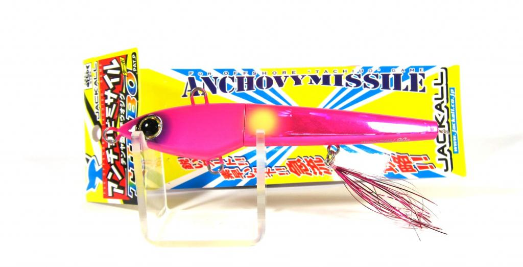 Sale Jackall Anchovy Missile Turbo Jig Lure 130 grams Pink (9382)