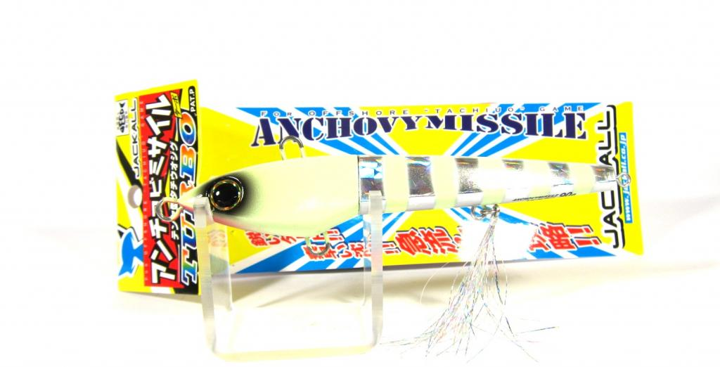 Sale Jackall Anchovy Missile Turbo Jig Lure 130 grams Glow Stripe (9405)