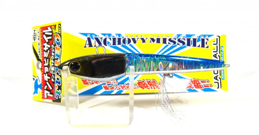 Sale Jackall Anchovy Missile Turbo Jig Lure 90 Grams Blue Pink (9269)