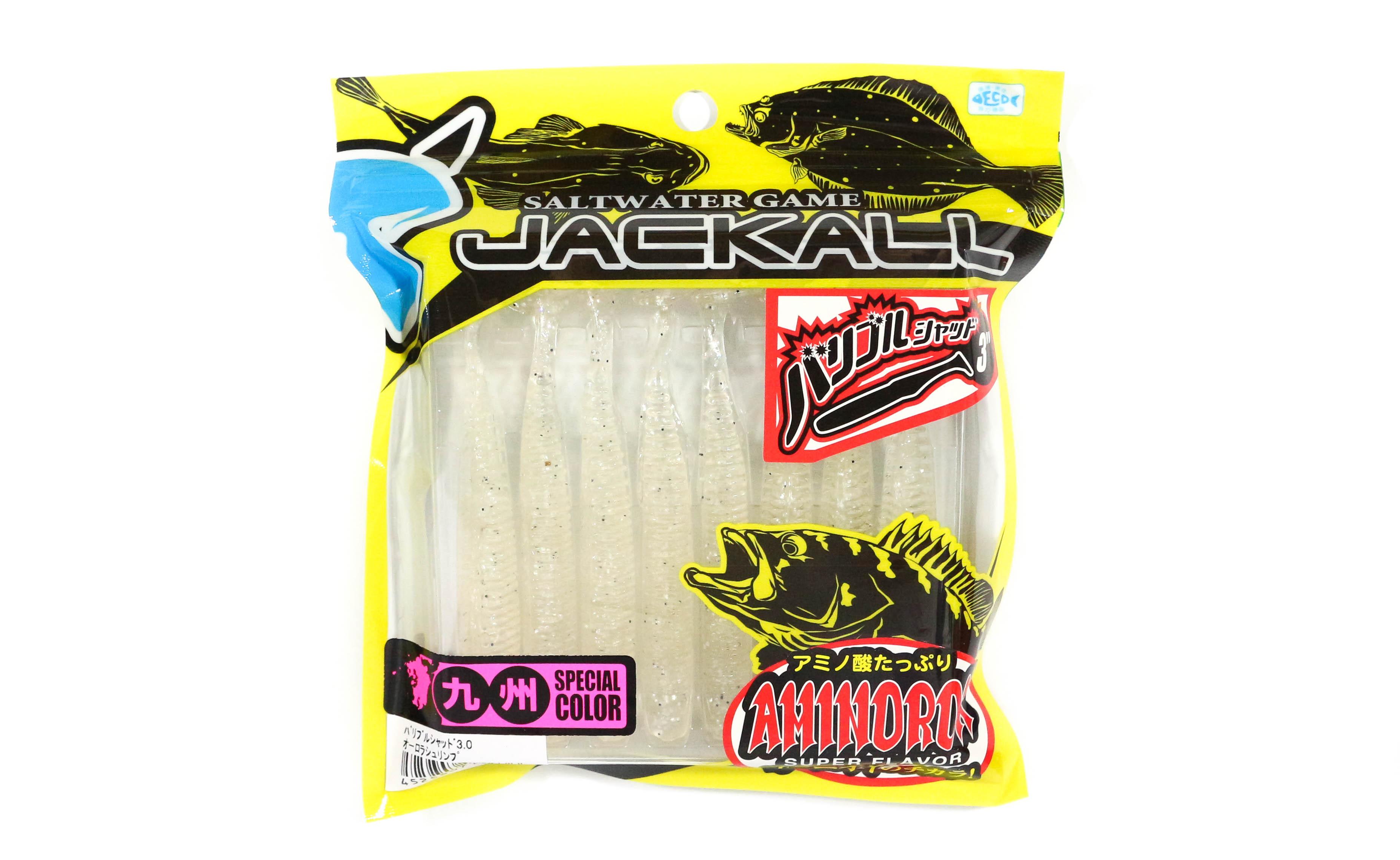 Sale Jackall Soft Lure Bariburu Shad 3.0 Inches Aurora Shrimp (4636)