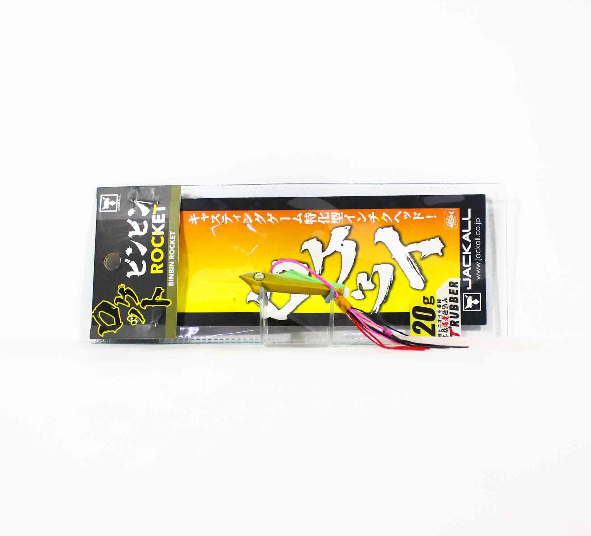 Jackall Bin Bin Rocket 20 grams Inchiku Chart Glow Gold (3710)