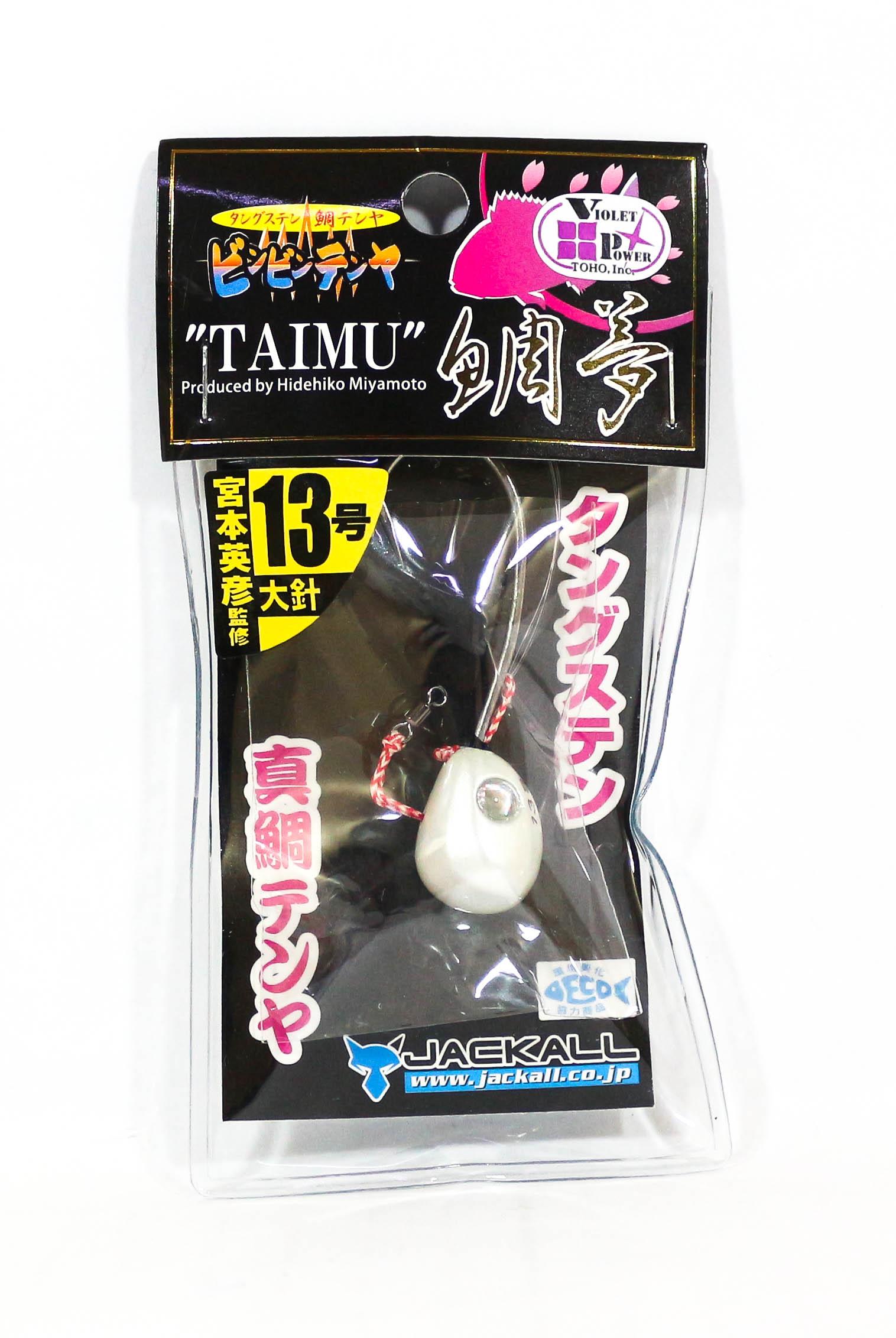 Jackall Bin Bin Tenya Taimu No. 13 L Super White (8367)