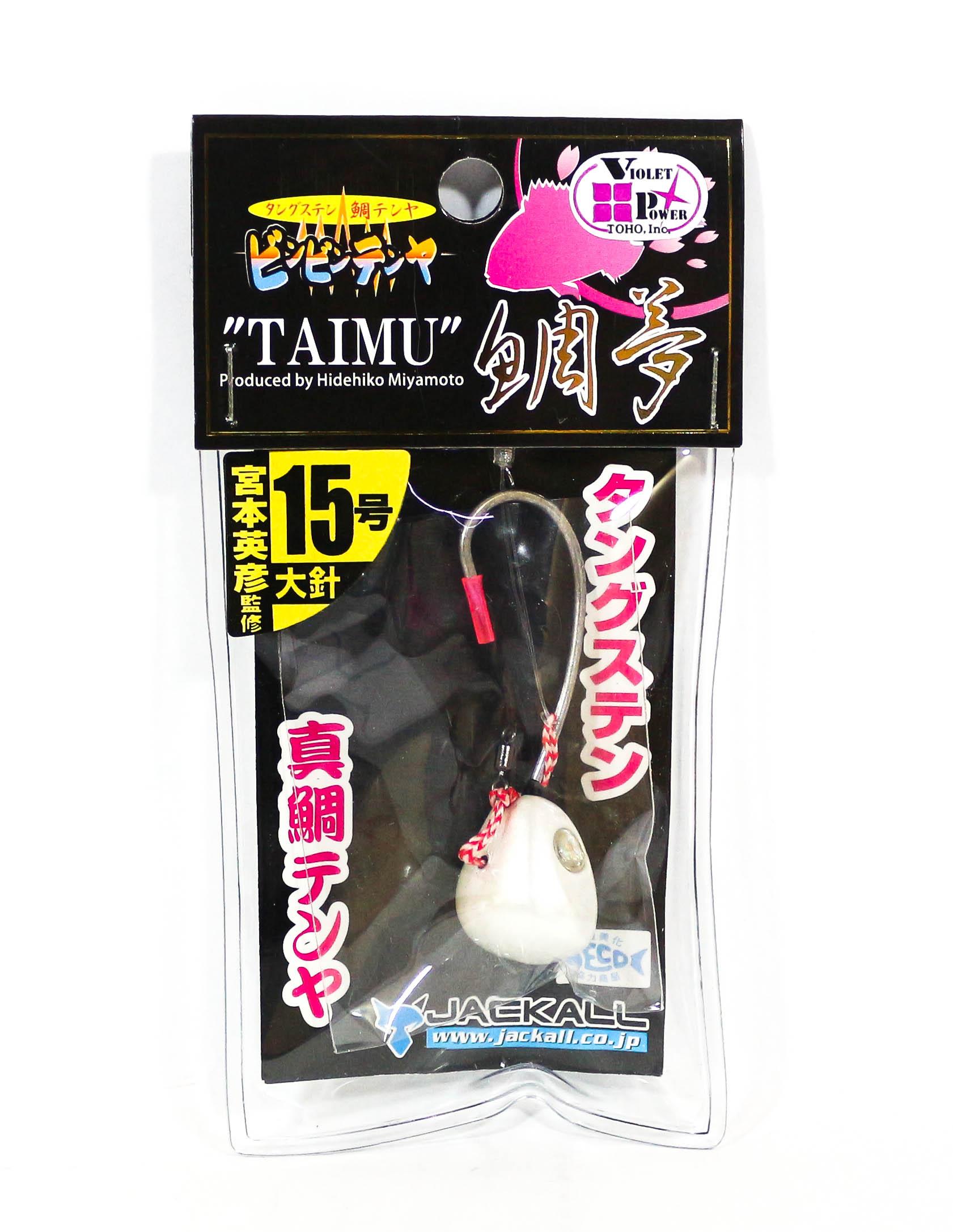 Jackall Bin Bin Tenya Taimu No. 15 L Super White (8398)