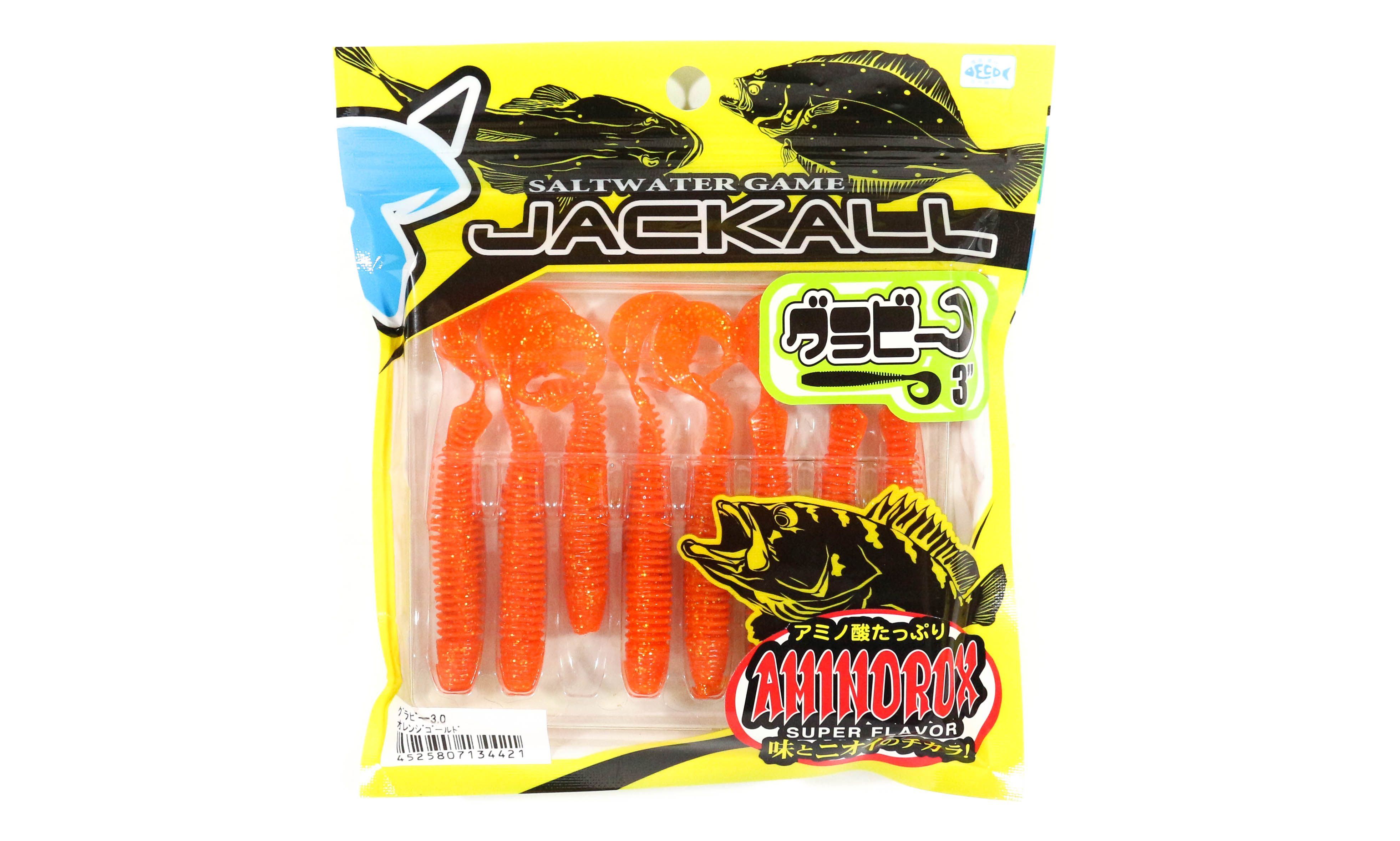 Sale Jackall Soft Lure Grubee 3 Inches Orange Gold (4421)