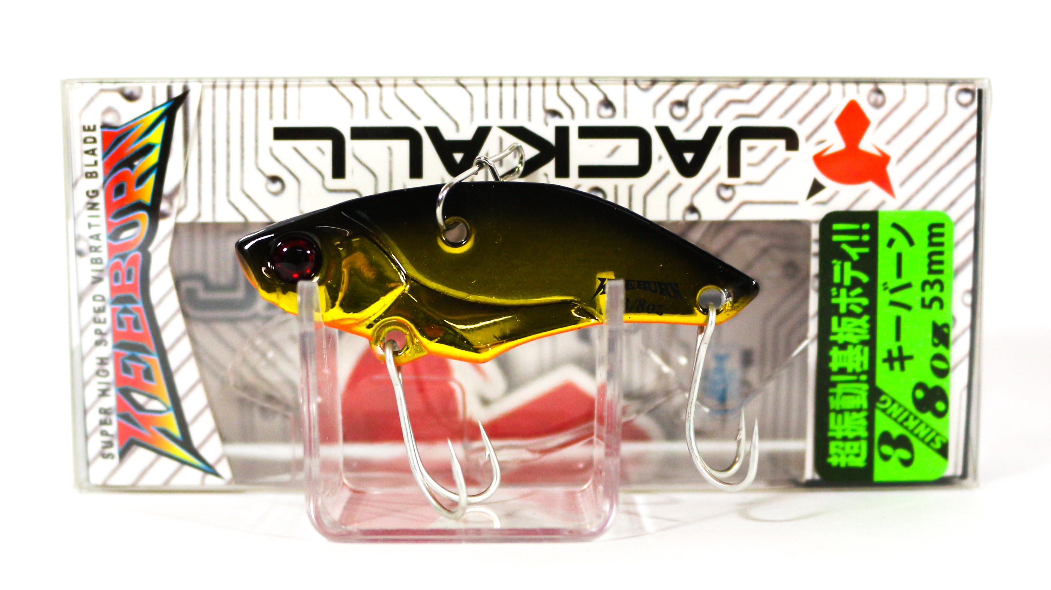 Sale Jackall Keeburn Metal Vibration 3/8 oz Sinking Lure HL Gold & Black (4027)