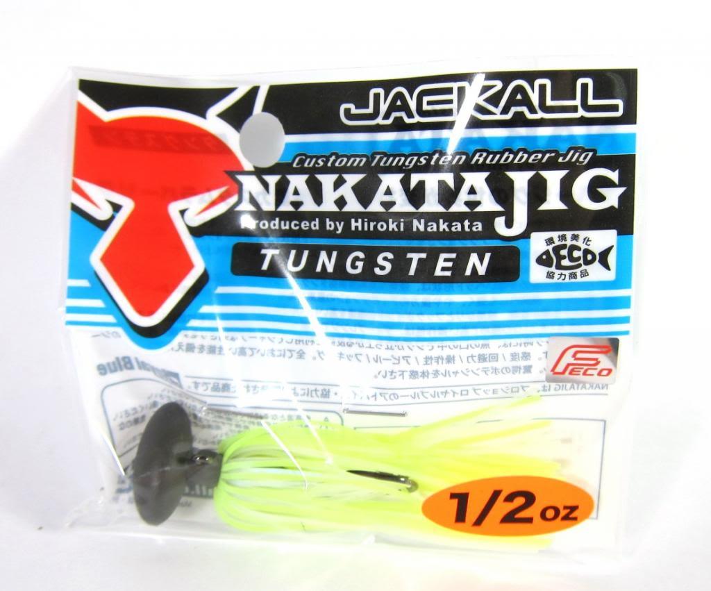 Sale Jackall Nakata Jig Rubber Casting Jig 1/2 oz Chartreuse Pearl White (6484)