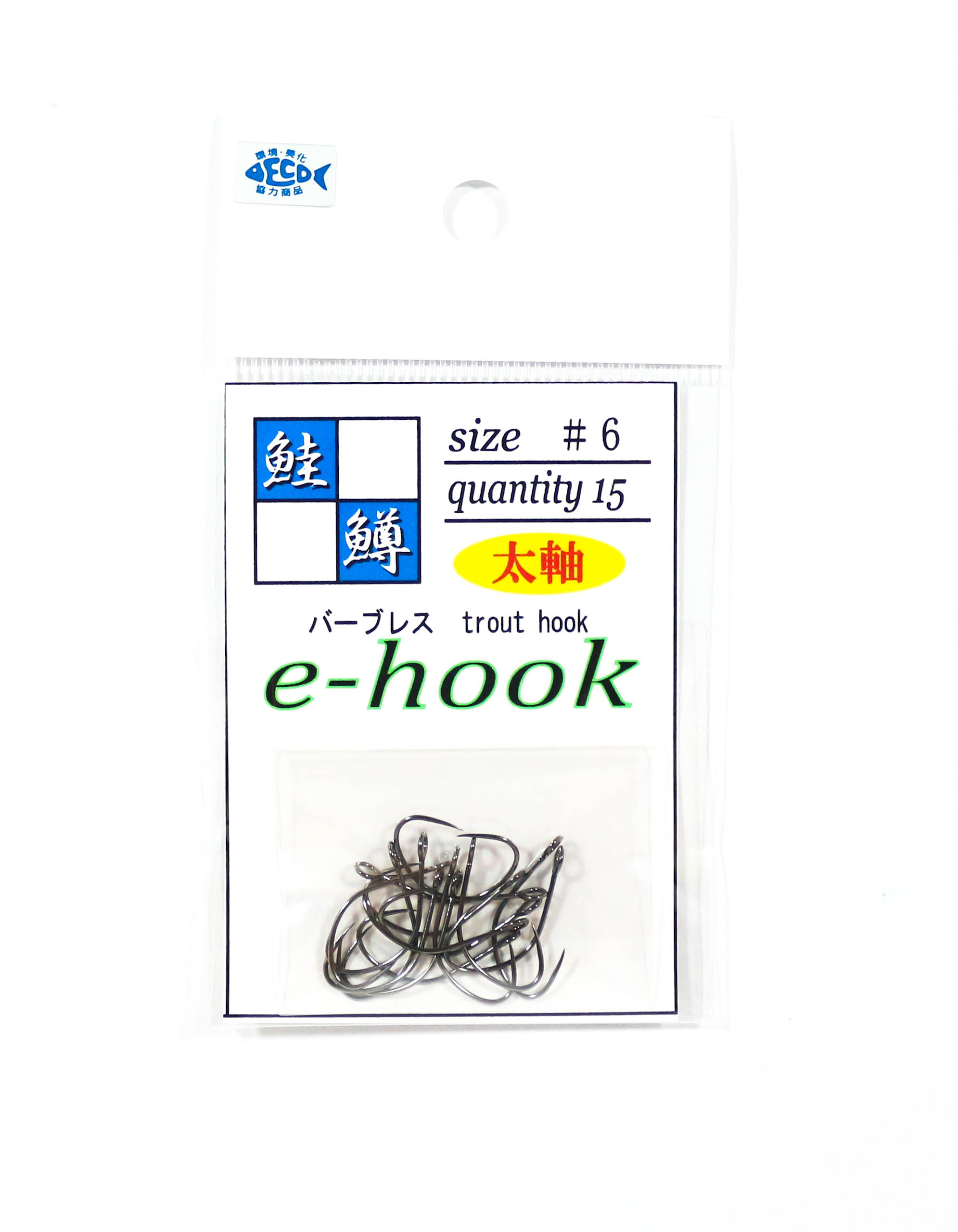 Jackall E-Hook Single Hook Trout Size 6L Thick Axis (3295)