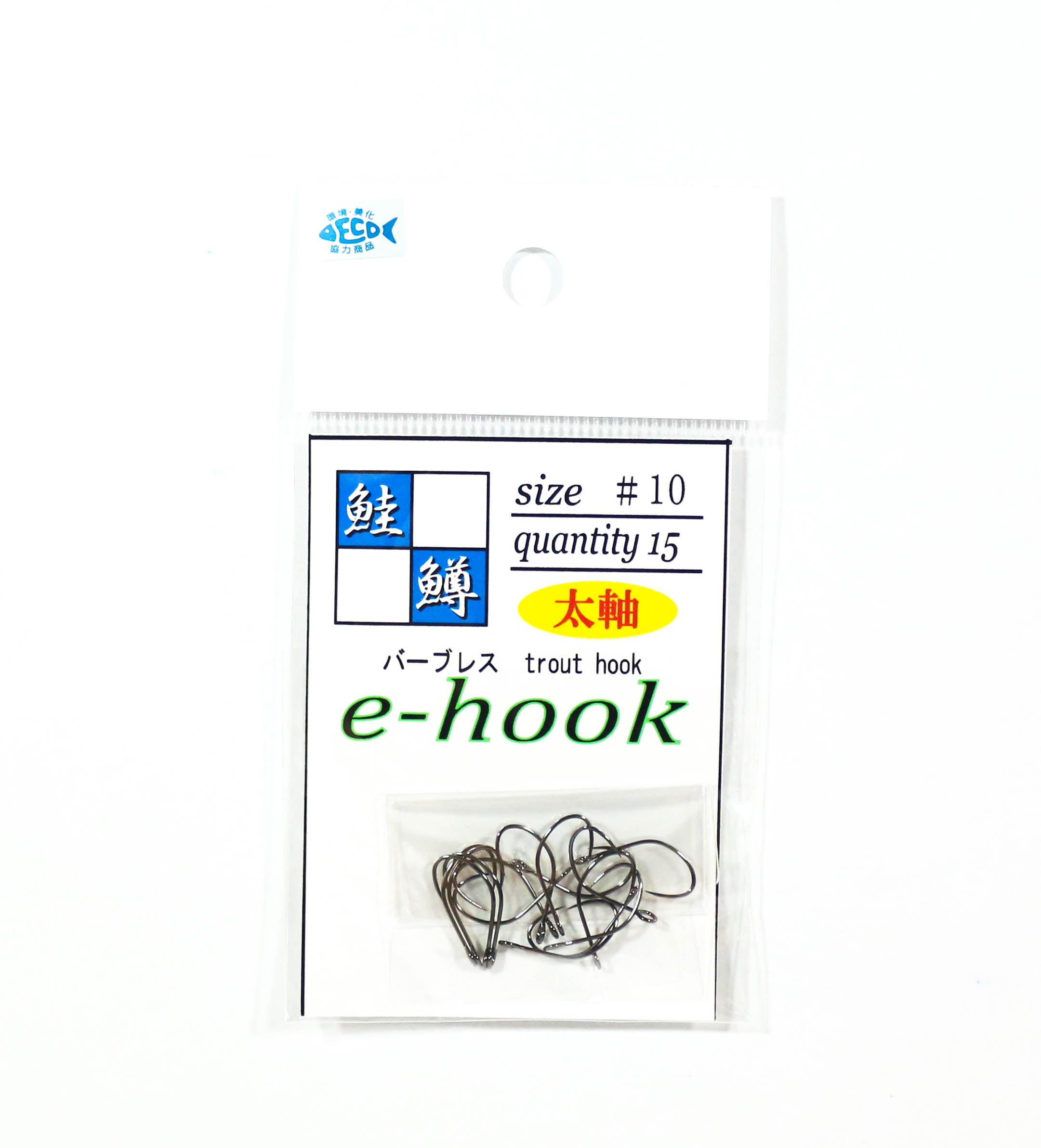 Jackall E-Hook Single Hook Trout Size 10L Thick Axis (3318)