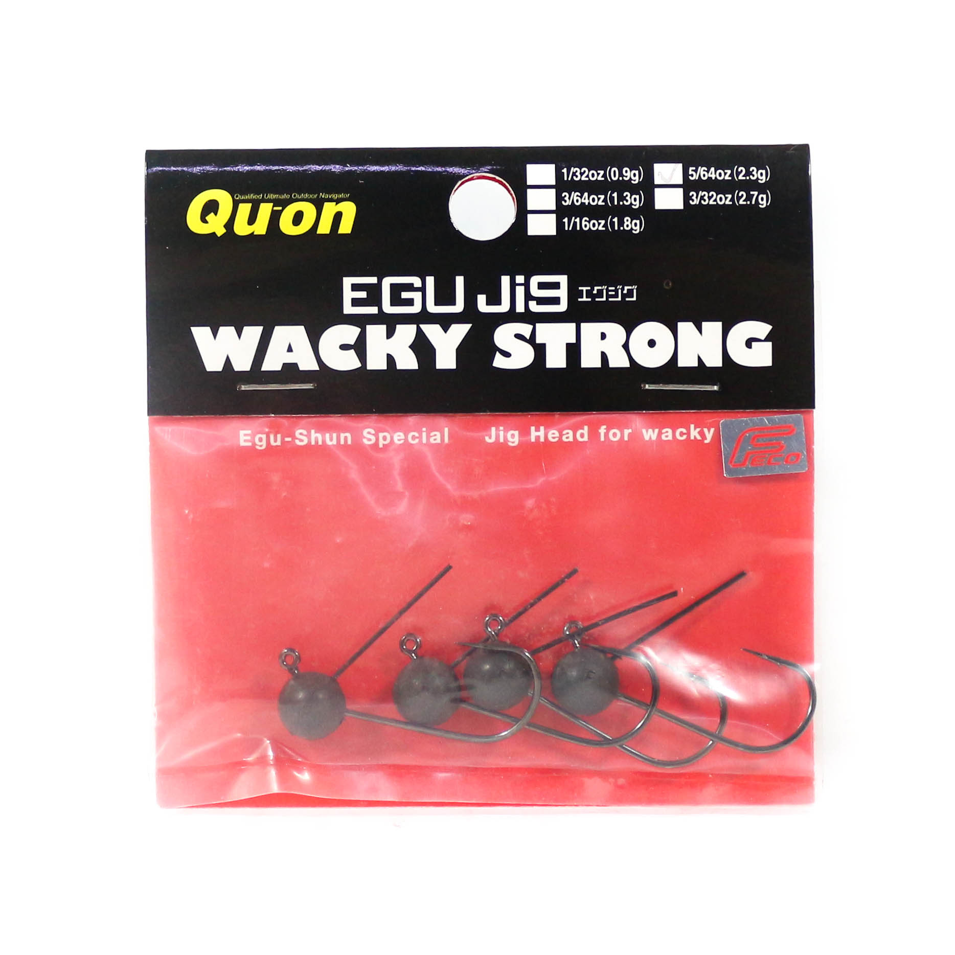 Jackson Jig Head Egu Jig Wacky Strong 5 Piece per Pack Size 4 , 5/64 oz (8315)