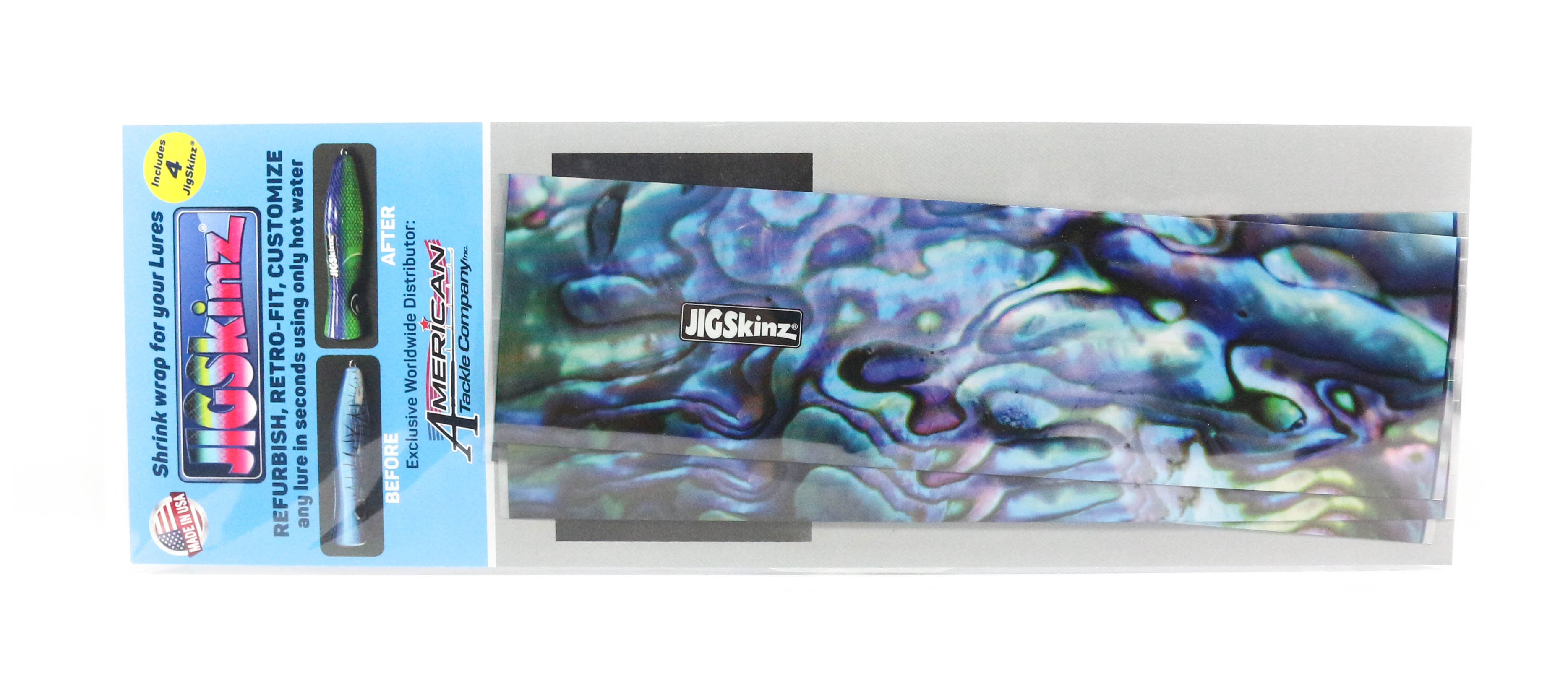 Jigskinz JZABB-L4 Abalone Blue 200 x 110mm x 4 pieces Large (3206)