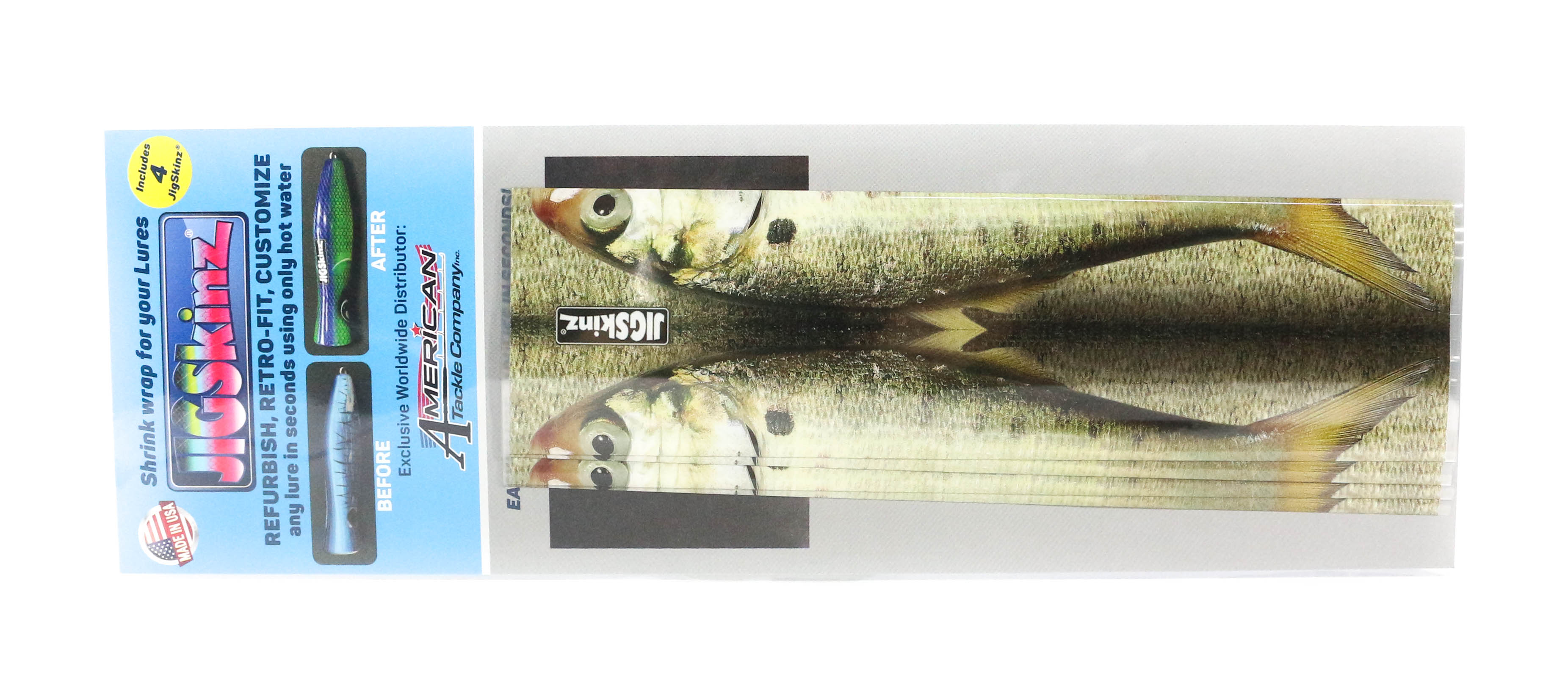 Jigskinz JZRLMH-L4 RL Menhaden 200 x 110mm x 4 pieces Large (7776)