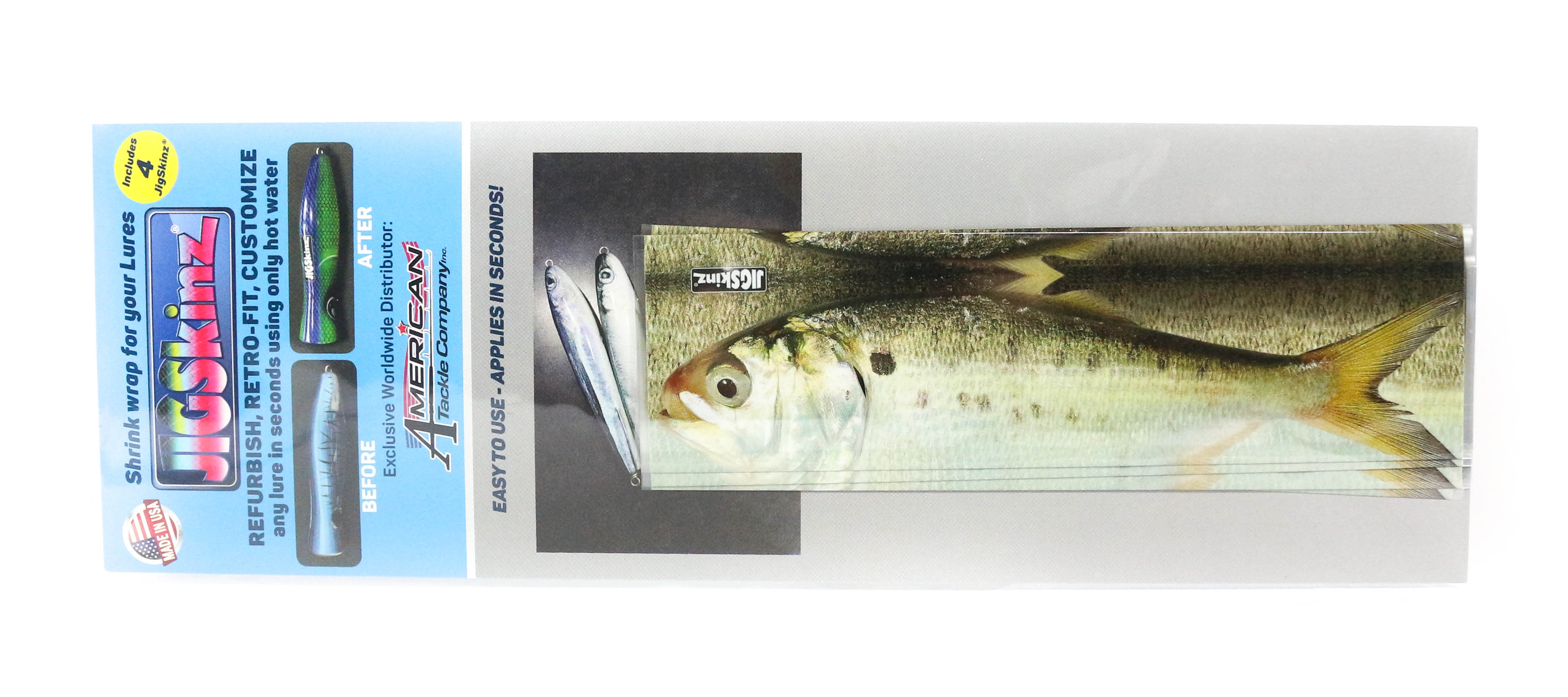 Jigskinz JZRLMH-M4 RL Menhaden 170 x 95mm x 4 pieces Medium (7783)