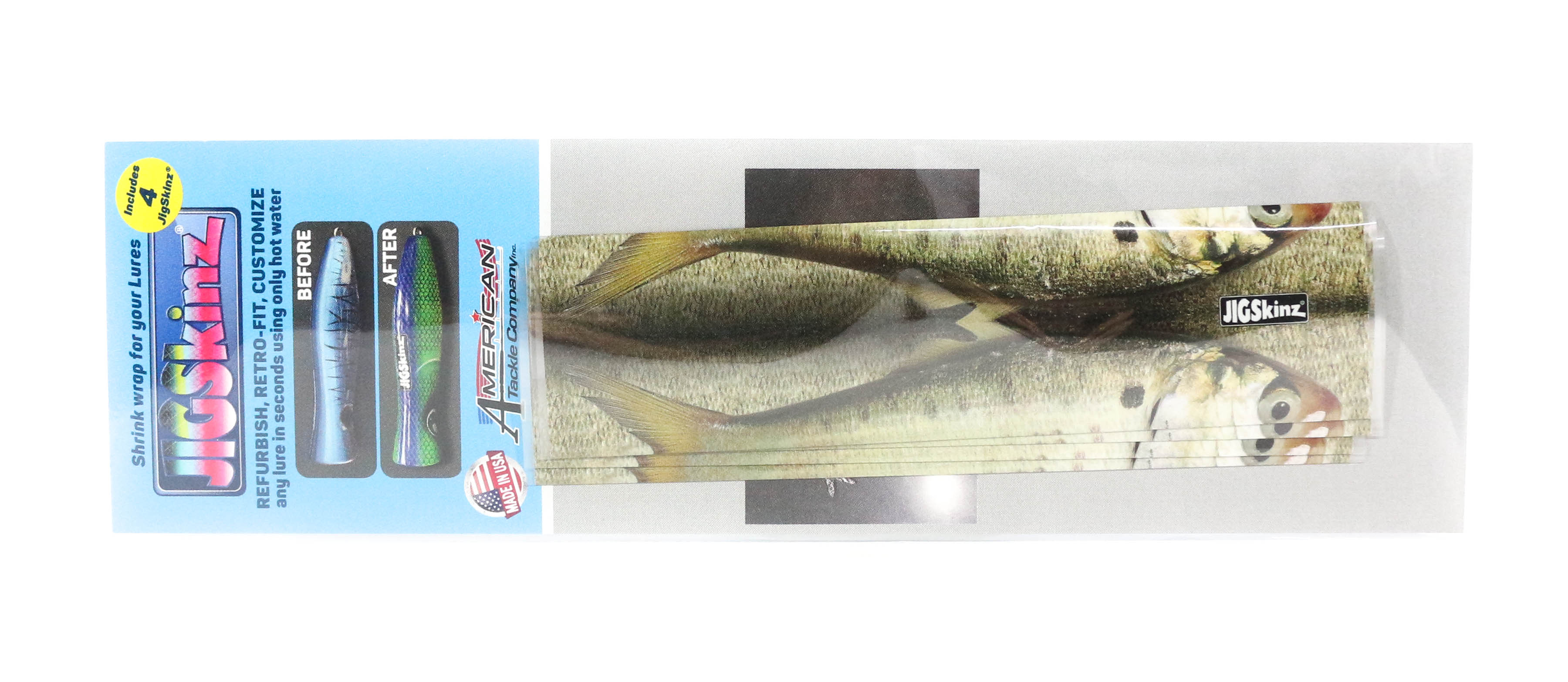 Jigskinz JZRLMH-S4 RL Menhaden 140 x 70mm x 4 pieces Small (7790)