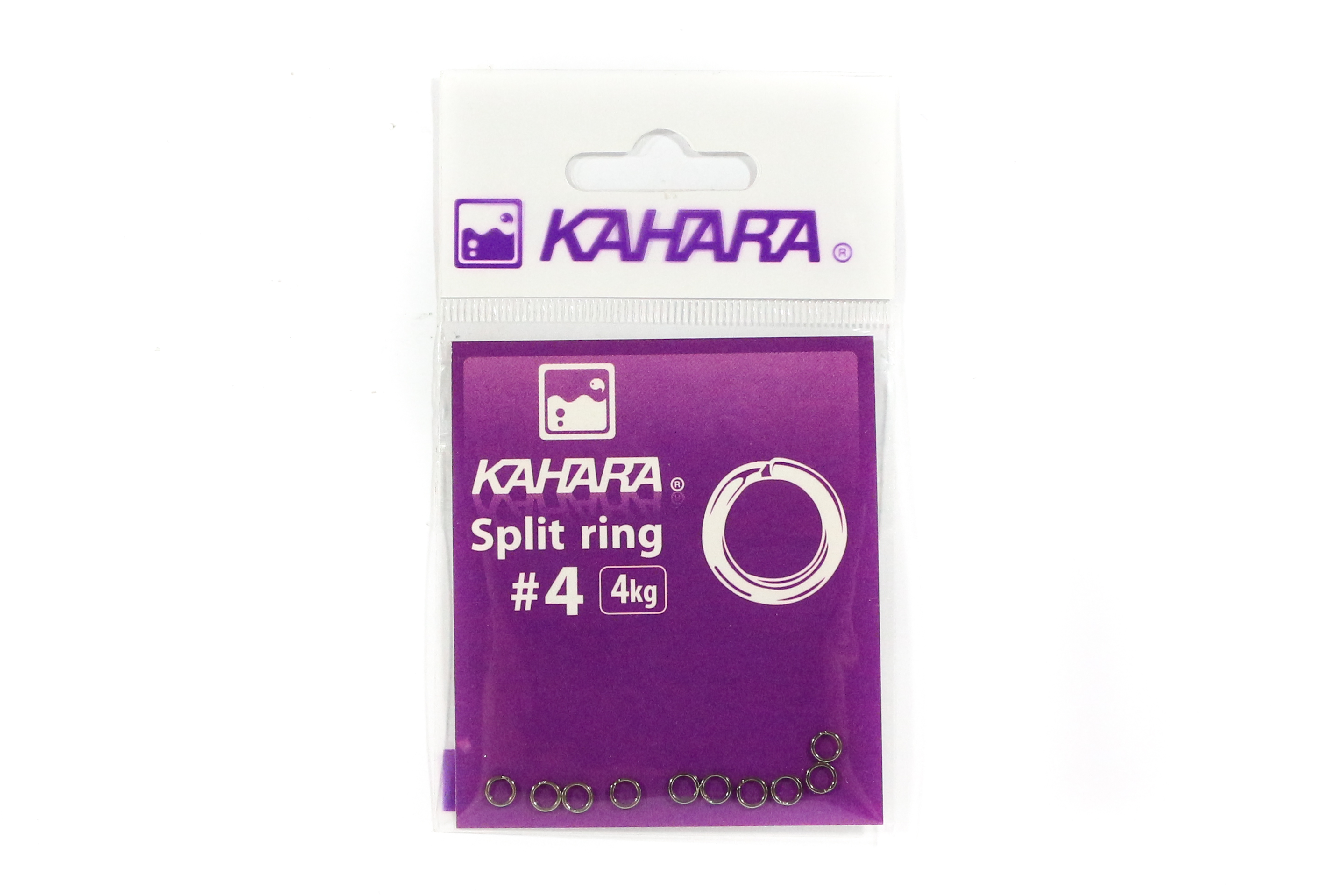 Kahara Split Ring Stainless Steel Size 4 (0706)