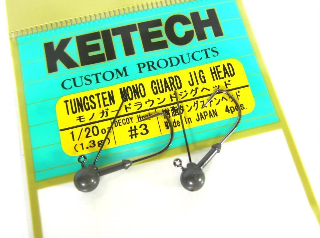 Sale Keitech Tungsten Mono Guard Jig Head 1/20 oz Size 4 (0018)