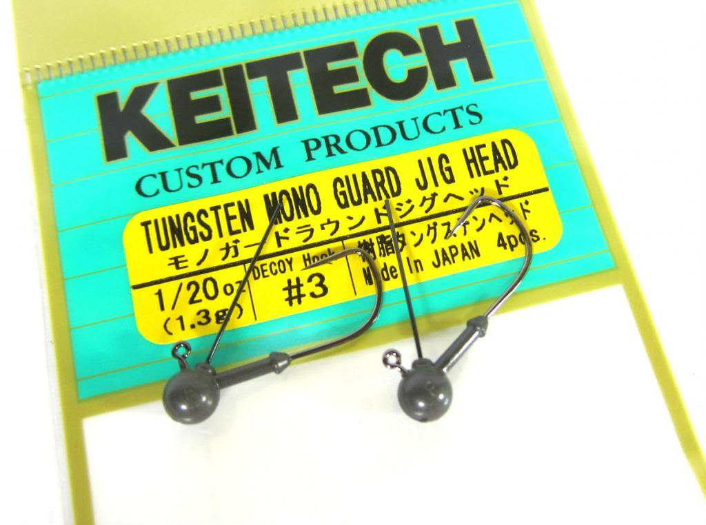 Sale Keitech Tungsten Mono Guard Jig Head 1/32 oz Size 3 (0049)