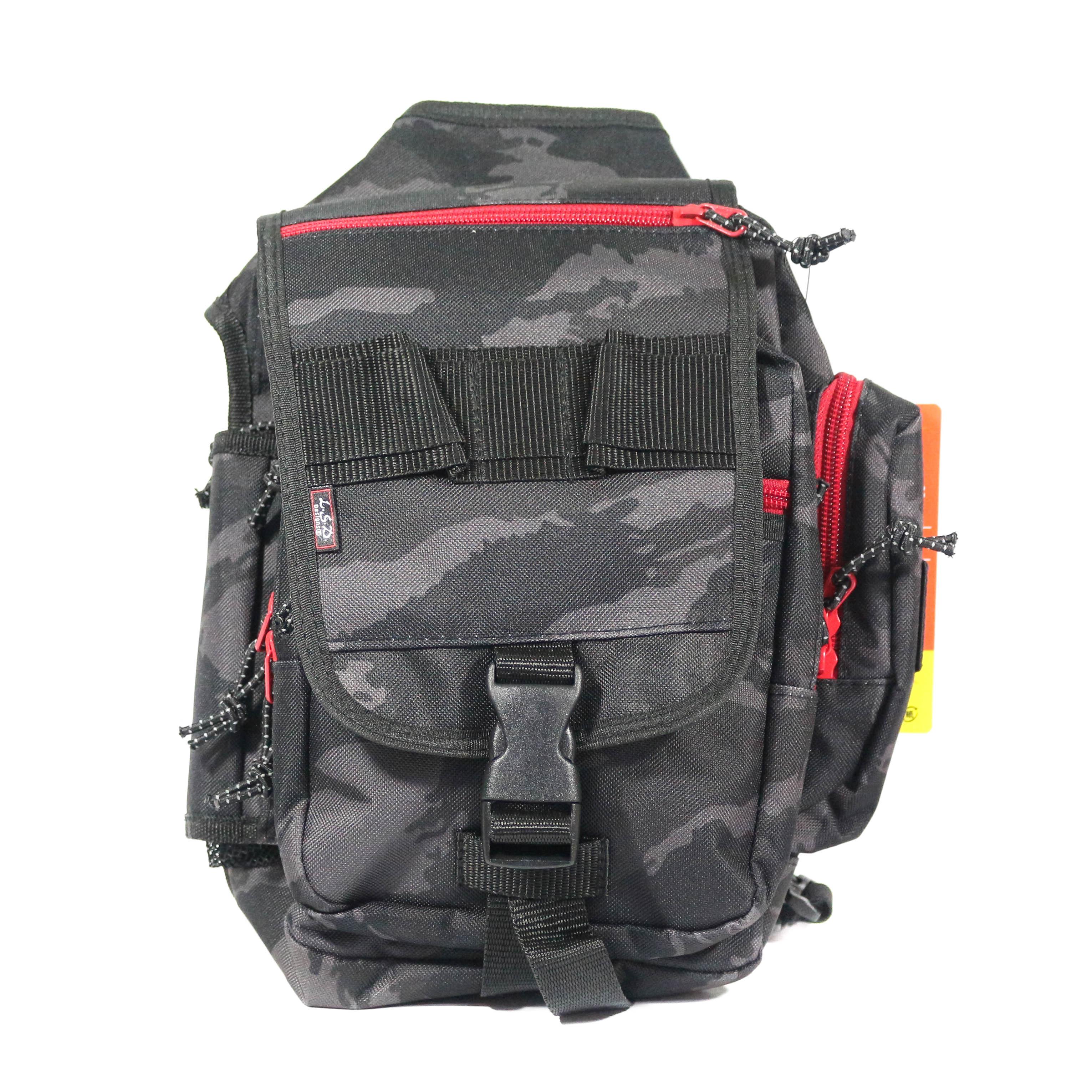 LSD One Shot Foot Bag Black Camo/Red Zipper 27 x 17 x 9 cm (9378)