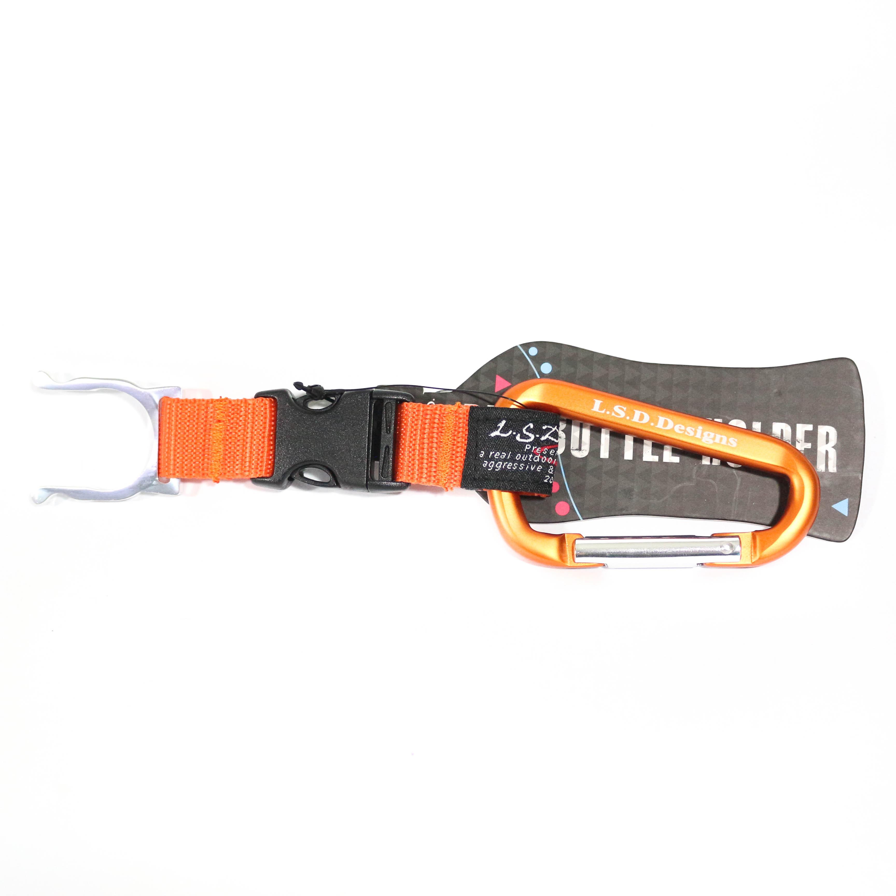 LSD Pet Bottle Holder Carabiner Clip Orange (9286)