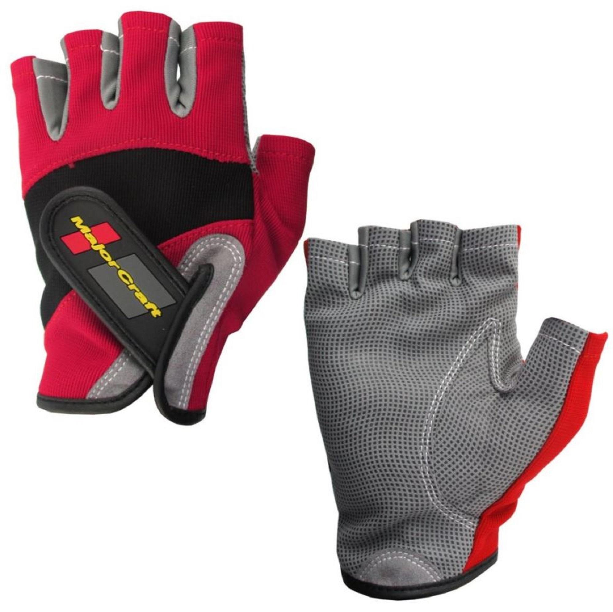 Major Craft Gloves Fishing Fingerless MCFG-5 M/RD (7076)
