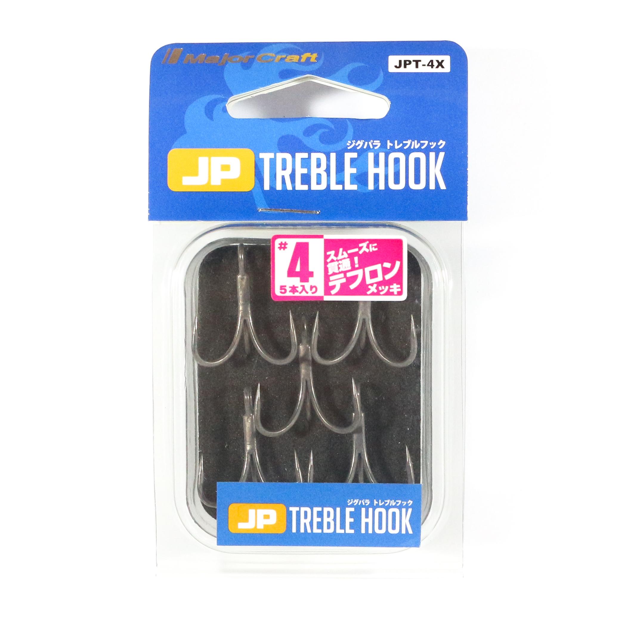 Major Craft Treble Hooks JPT-4X Black Size 4 5 piece per pack (3100)