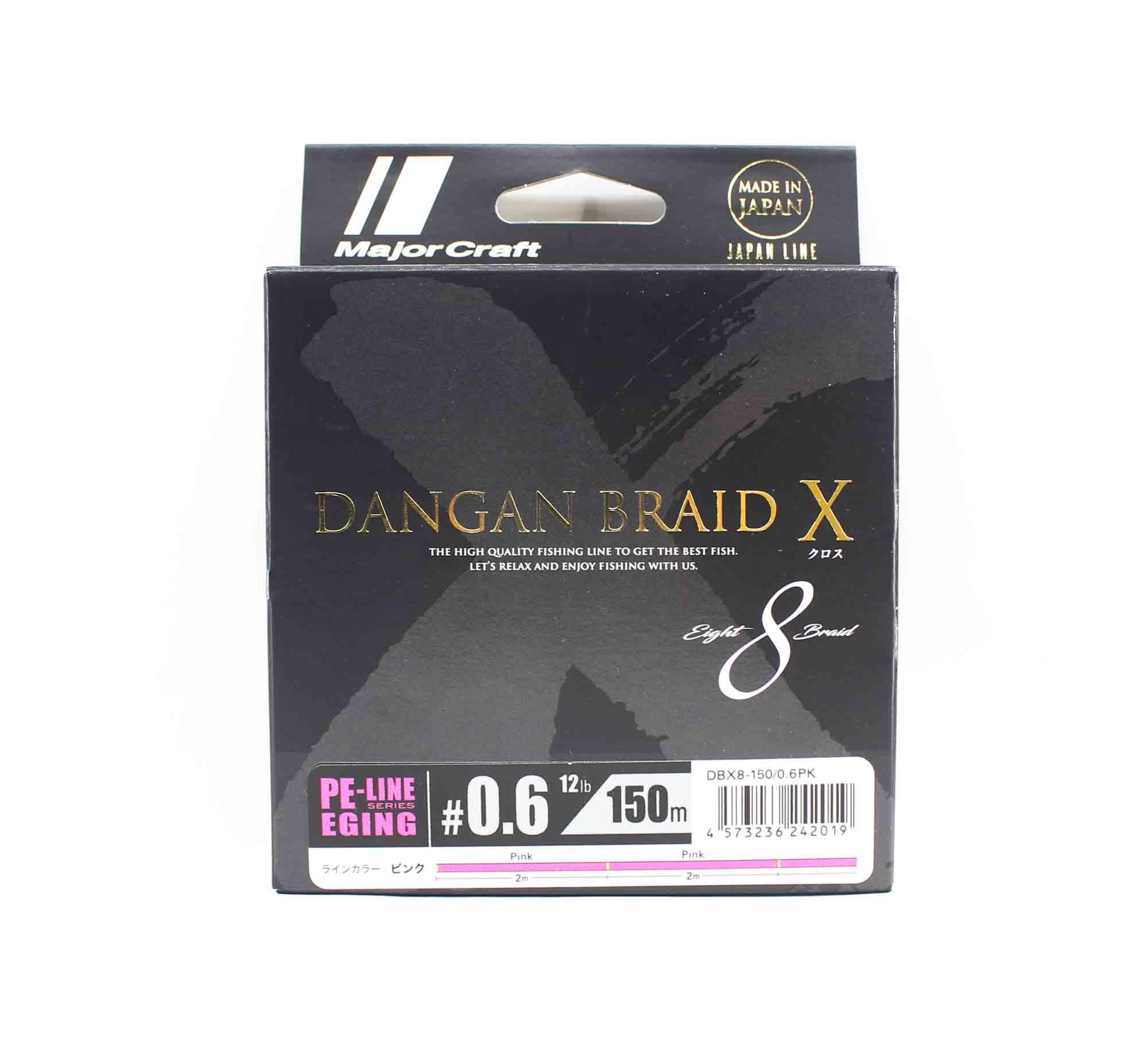 Major Craft Dangan Braid X Line X8 150m P.E 0.6 Pink DBXE8-150/0.6PK (2019)