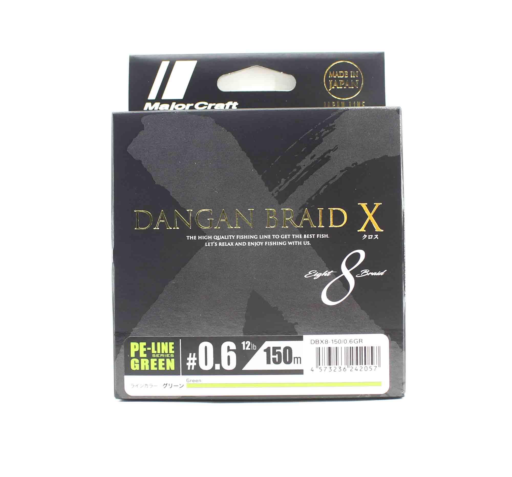 Major Craft Dangan Braid X Line X8 150m P.E 0.6 Green DBX8-150/0.6GR (2057)