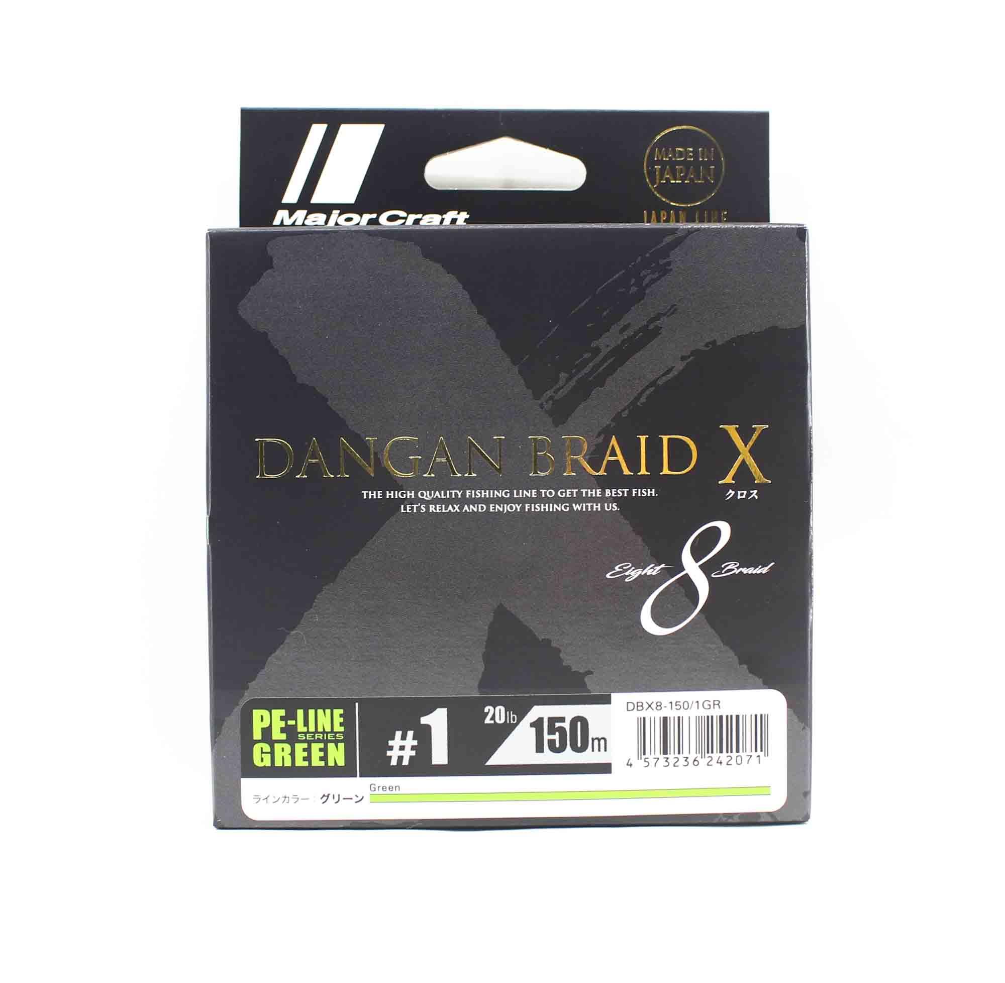 Major Craft Dangan Braid X Line X8 150m P.E 1 Green DBX8-150/1GR (2071)
