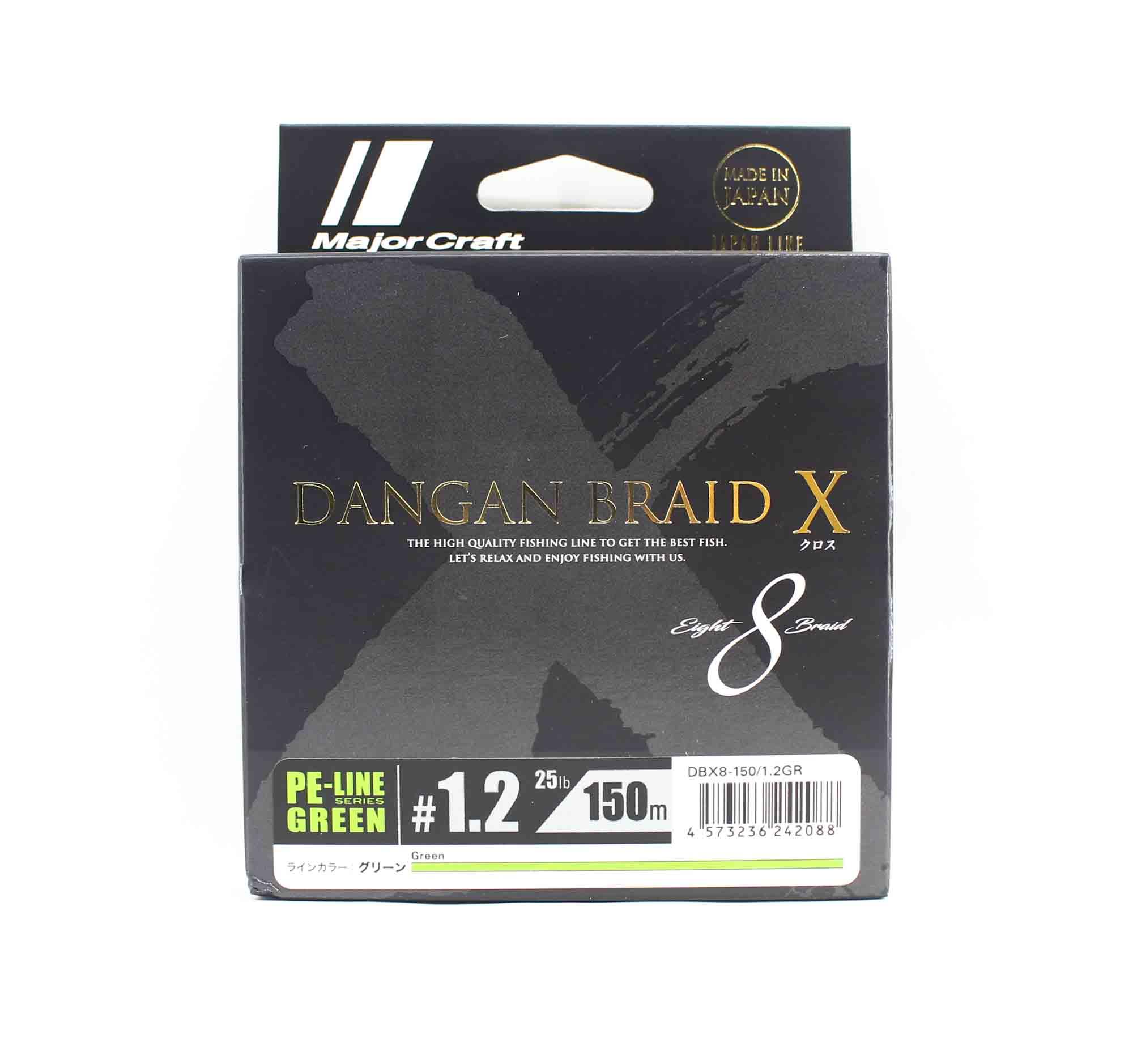 Major Craft Dangan Braid X Line X8 150m P.E 1.2 Green DBX8-150/1.2GR (2088)