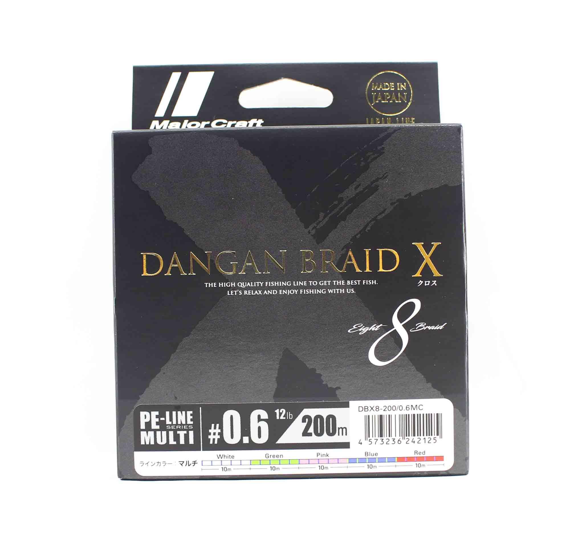 Major Craft Dangan Braid X Line X8 200m P.E 0.6 Multi DBX8-200/0.6MC (2125)