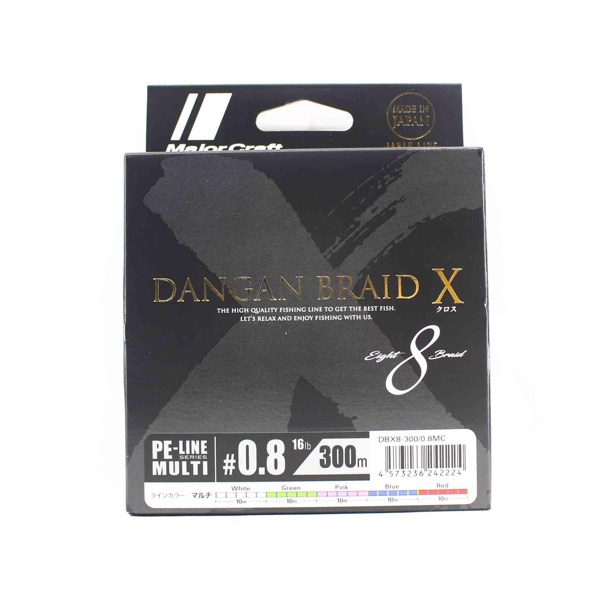 Major Craft Dangan Braid X Line X8 300m P.E 0.8 Multi DBX8-300/0.8MC (2224)