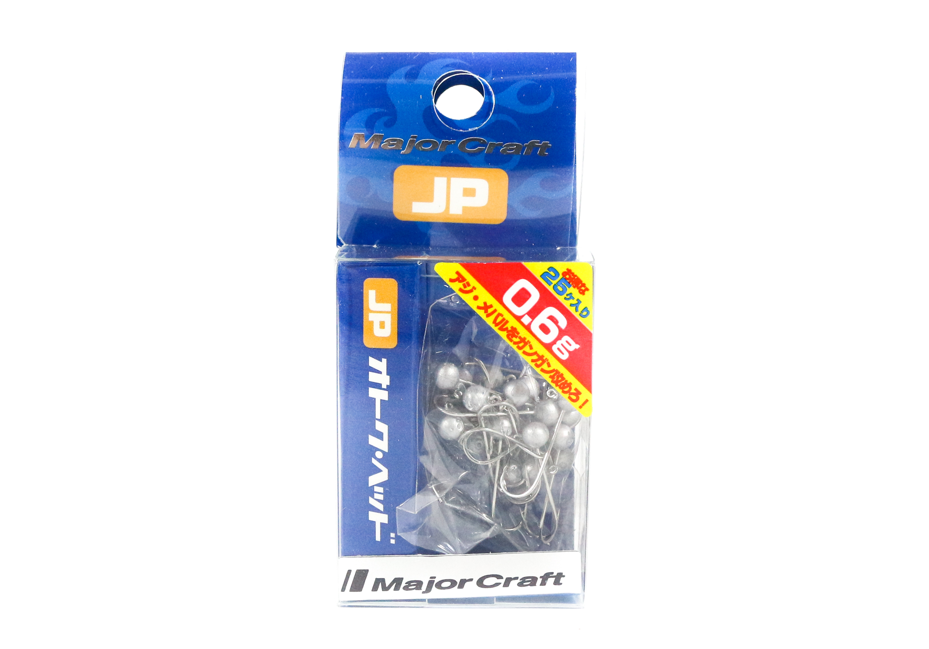 Major Craft Jig Head OTHD-0.6 grams Size 8 25 piece pack (6481)