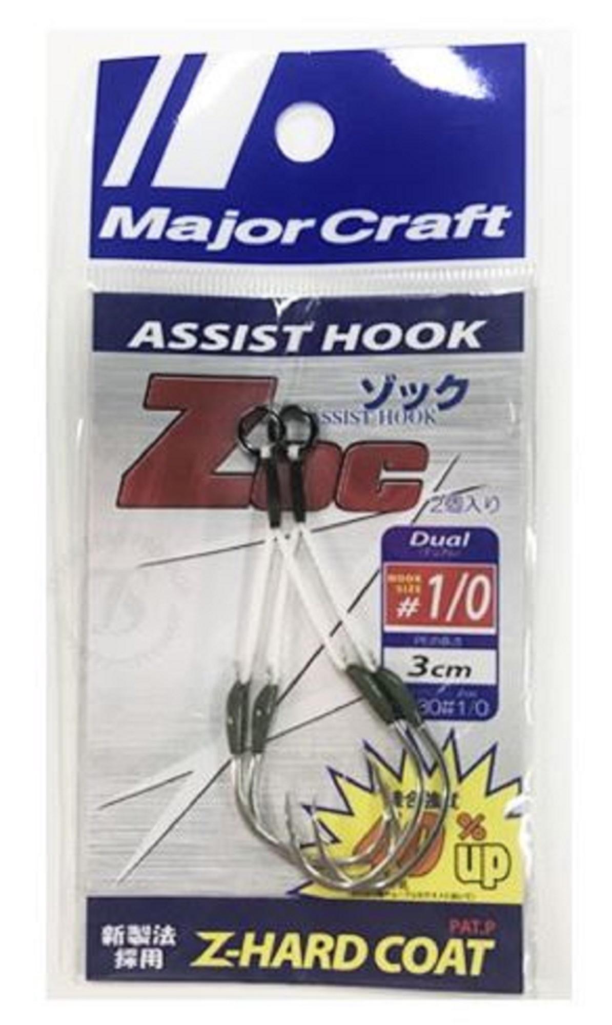 Major Craft ZOC Assist Hook Single ZOC-HD30 Size 1/0 , 3 cm 2sets/pack (0116)