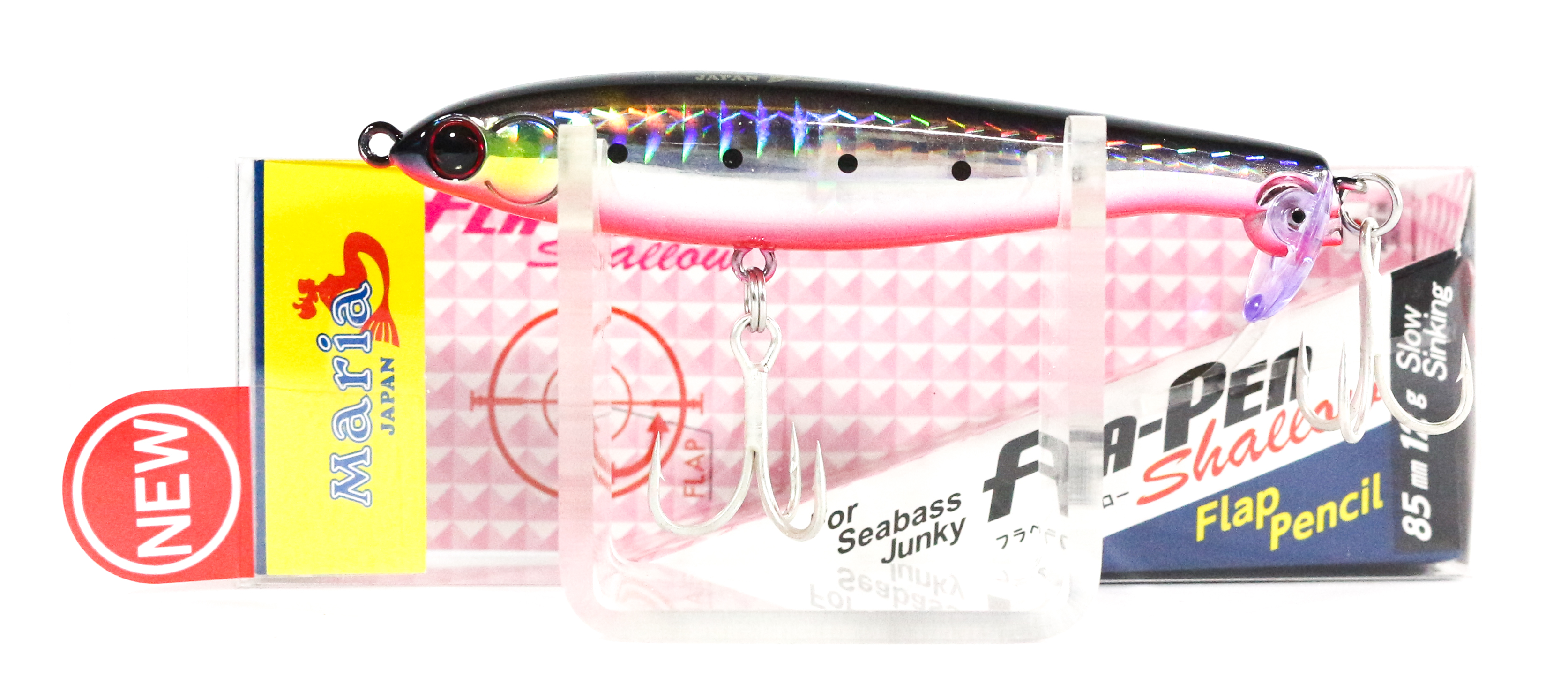 Maria Fla Pen S85 Shallow Fluttering Pencil Sinking Lure 01H (0664)