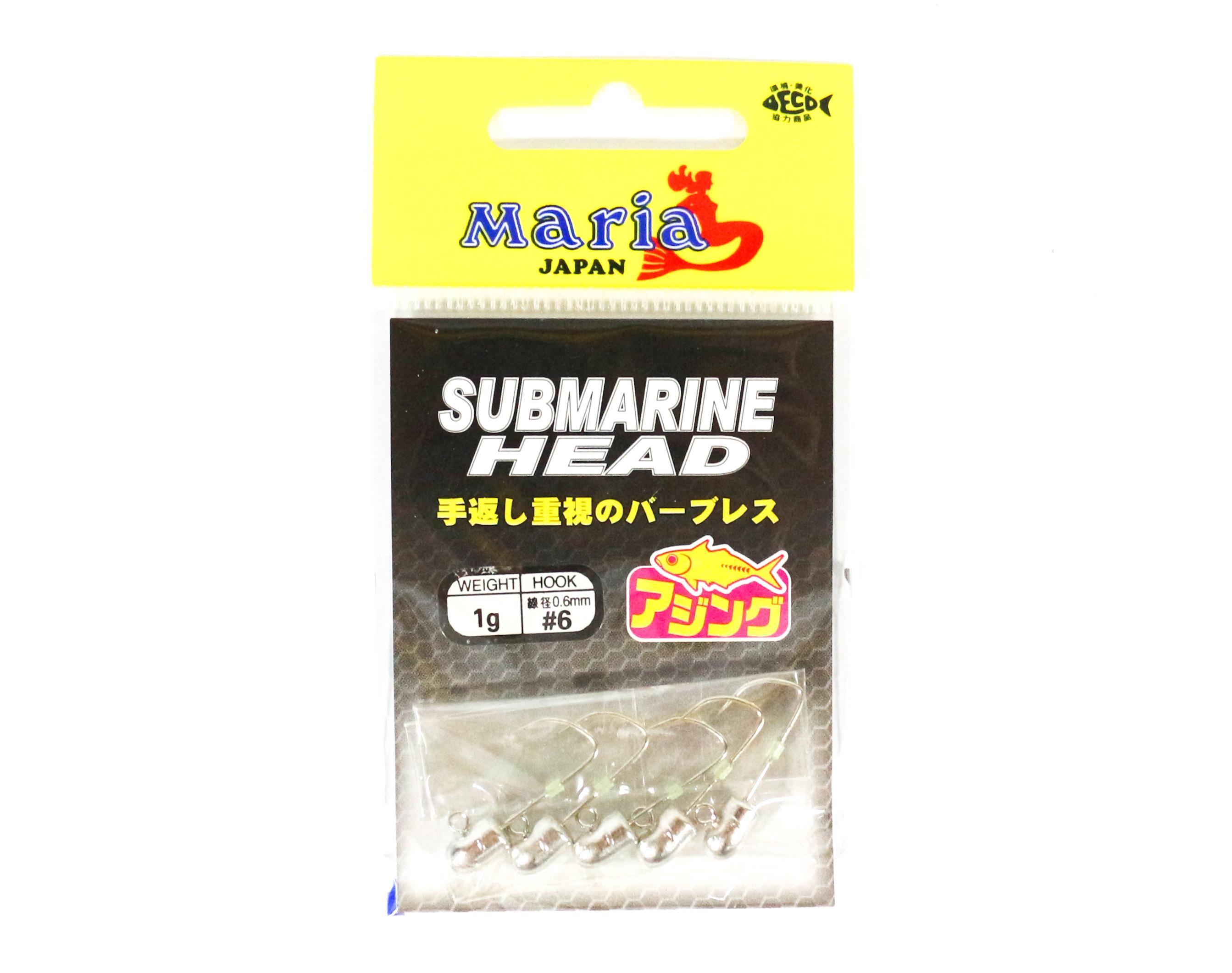 Maria Jig Head Submarine 1 grams , Size 6 (3758)