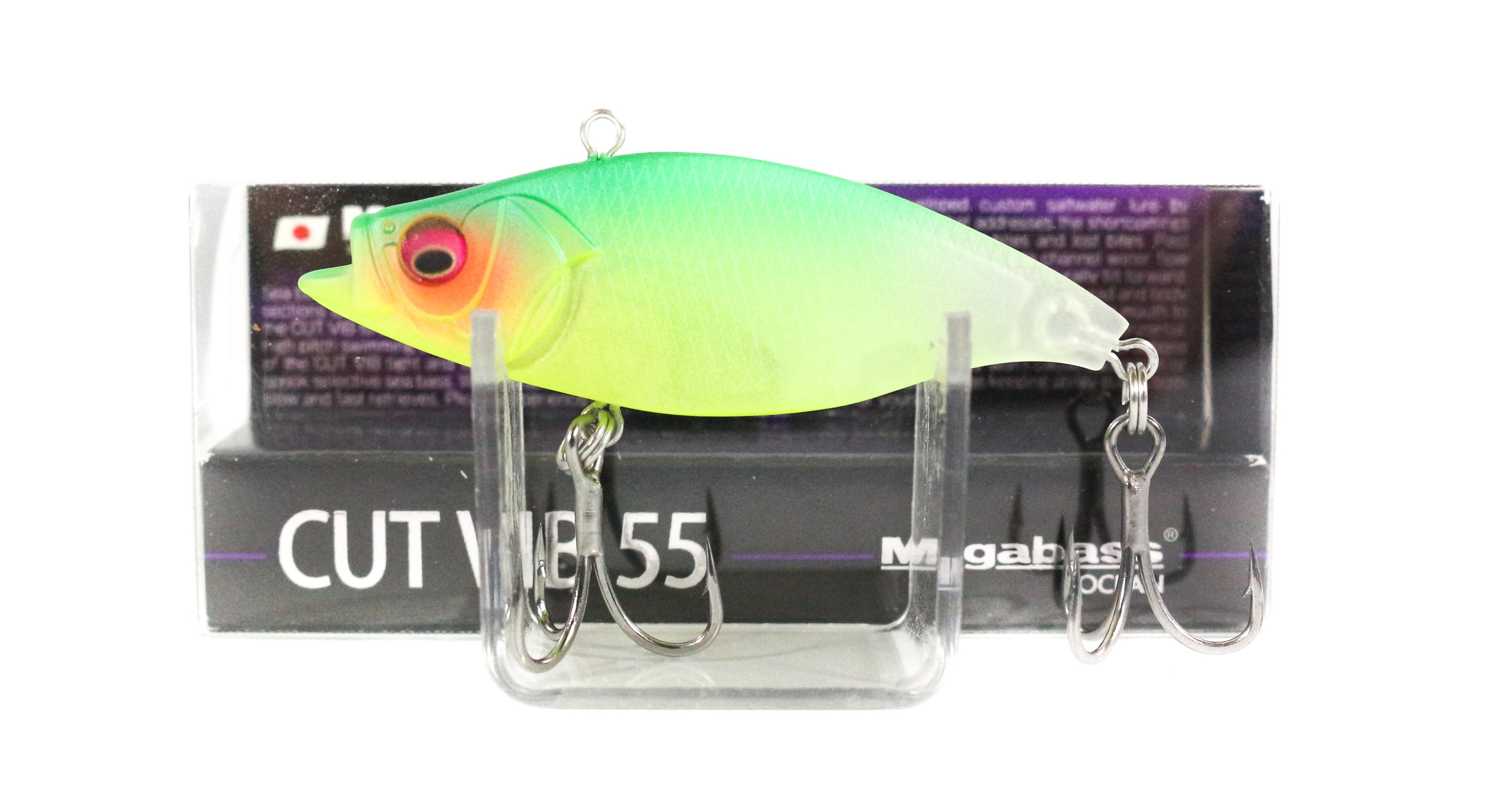 Megabass Cut Vib 55 Vibration Lure Seethrough Mat Lime (7372)