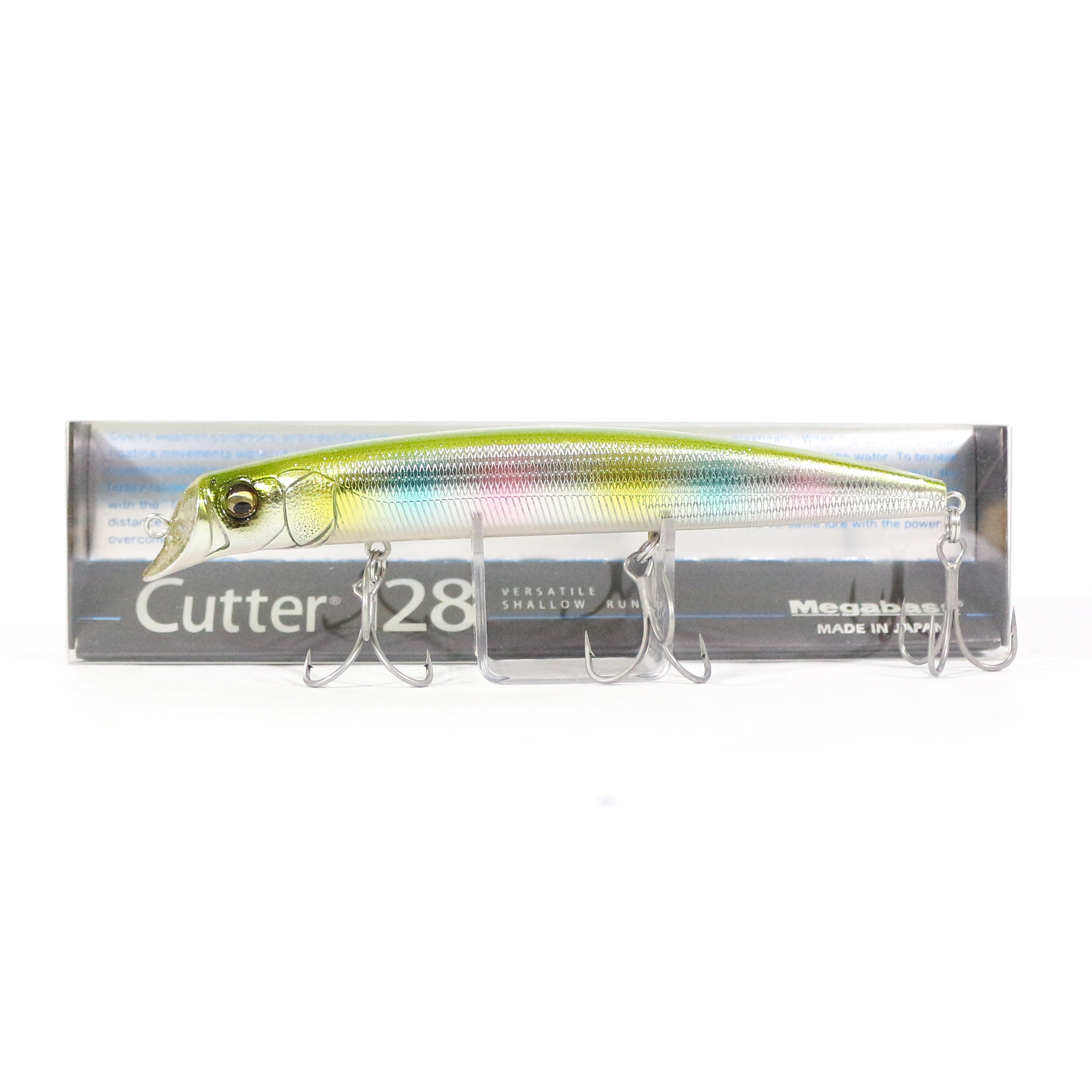 Megabass Cutter 128 SW Floating Lure GLX Wagin Ensyu Rainbow (6485)