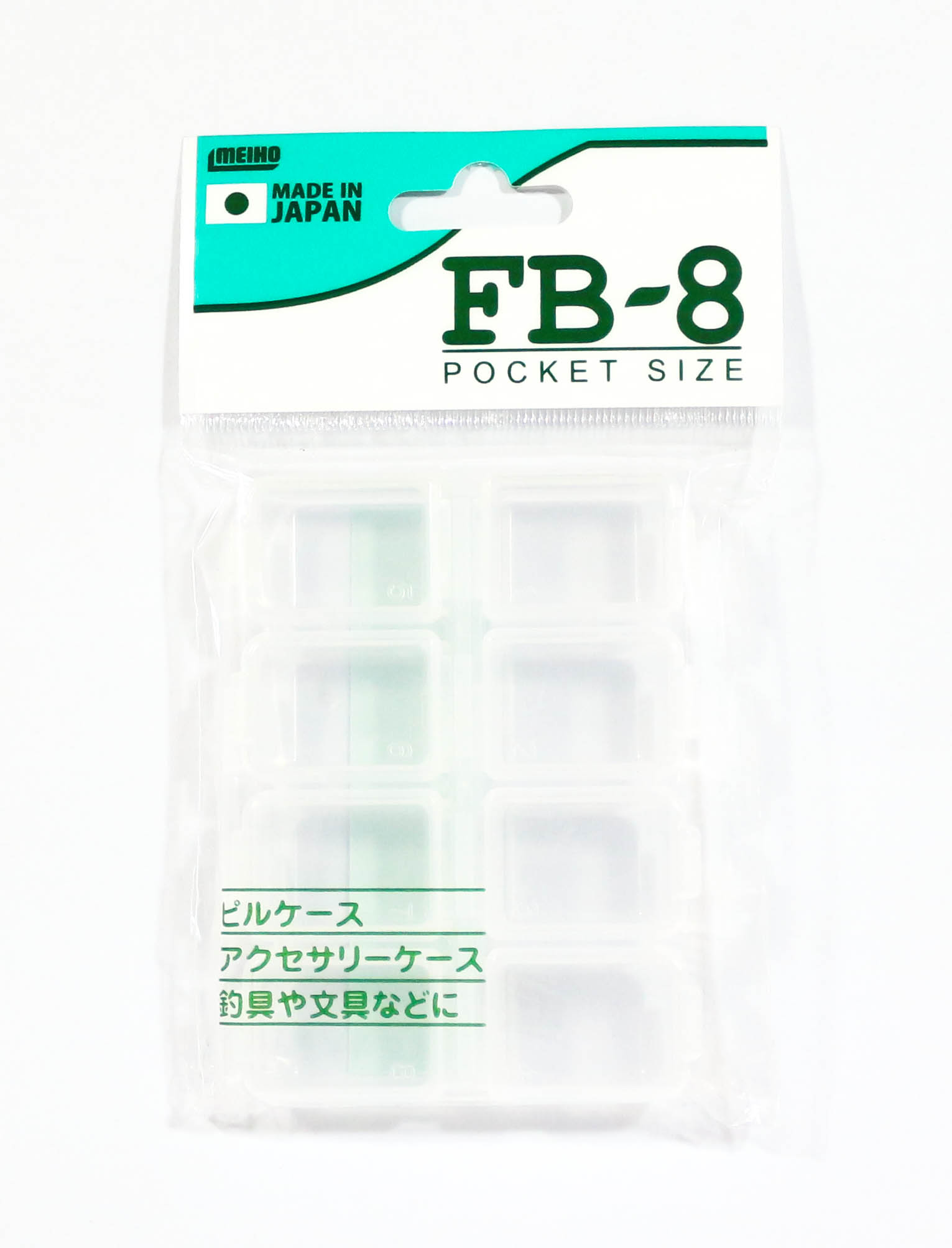 Meiho FB-8 Akiokun Parts Case ( 86 x 64 x 13 mm ) Clear (0783)