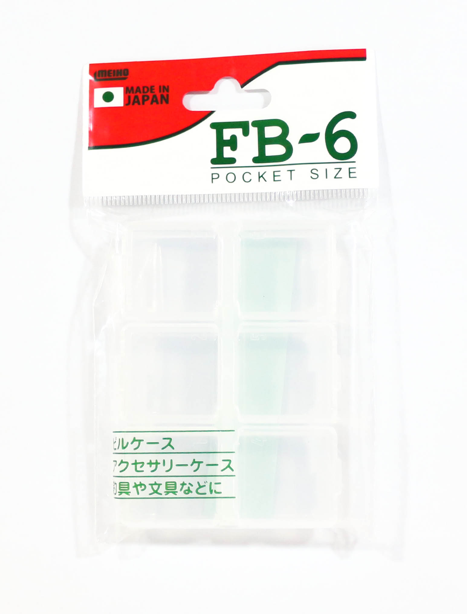 Meiho FB-6 Akiokun Parts Case ( 85 x 62 x 14 mm ) Clear (0912)