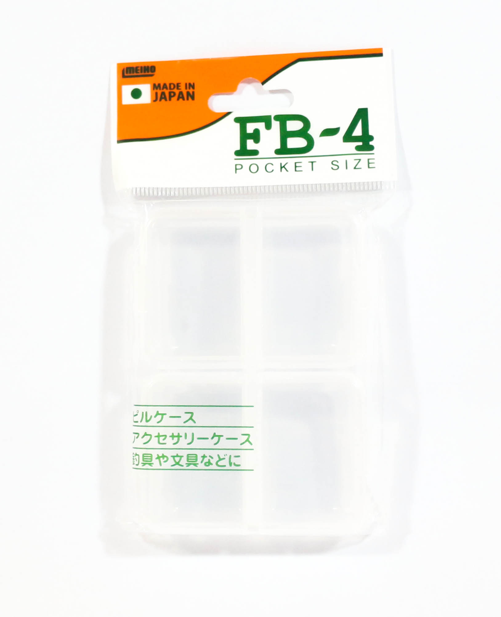 Meiho FB-4 Akiokun Parts Case ( 95 x 68 x 18 mm ) Clear (0293)