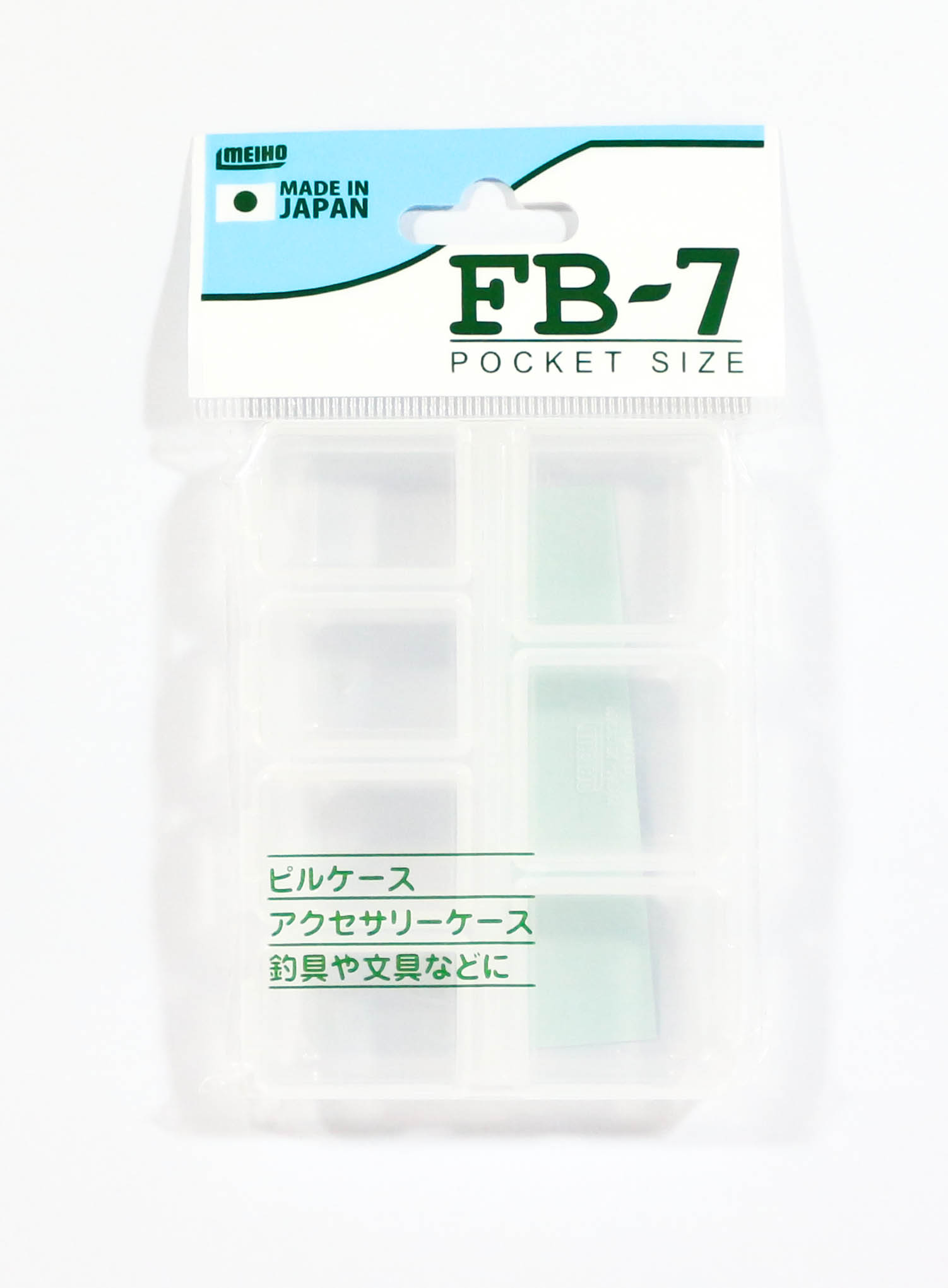 Meiho FB-7 Akiokun Parts Case ( 94 x 70 x 17 mm ) Clear (2234)