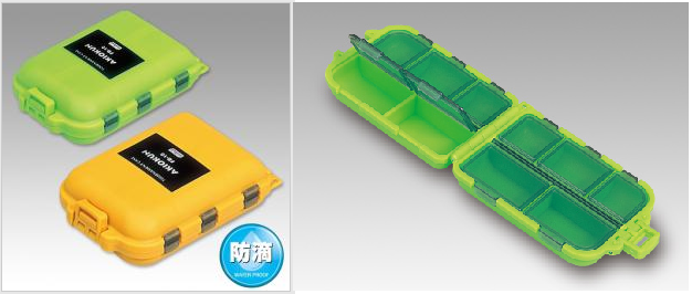 Meiho FB-10 Akiokun Parts Case ( 97 x 65 x 30 mm ) Yellow (1235)