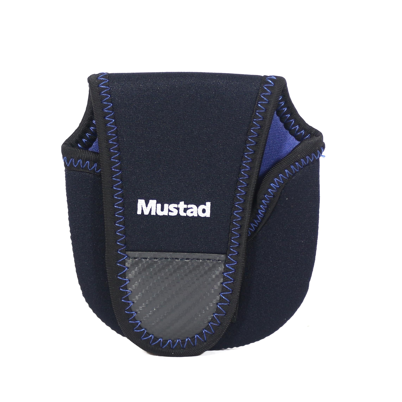 Mustad Reel Case Neoprene Baitcaster Size S Black/Blue (9734)