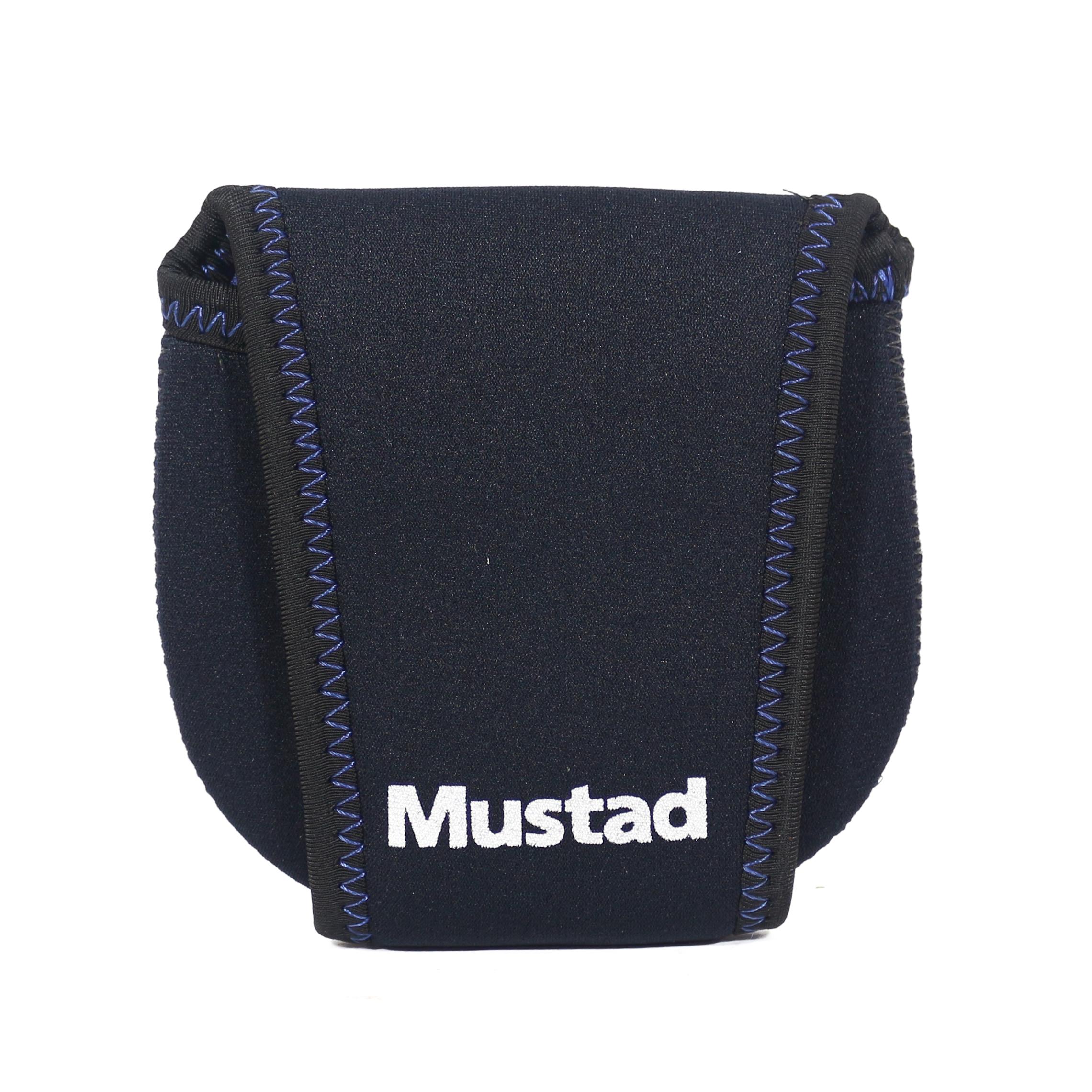 Mustad Reel Case Neoprene Baitcaster Size M Black/Blue (9741)