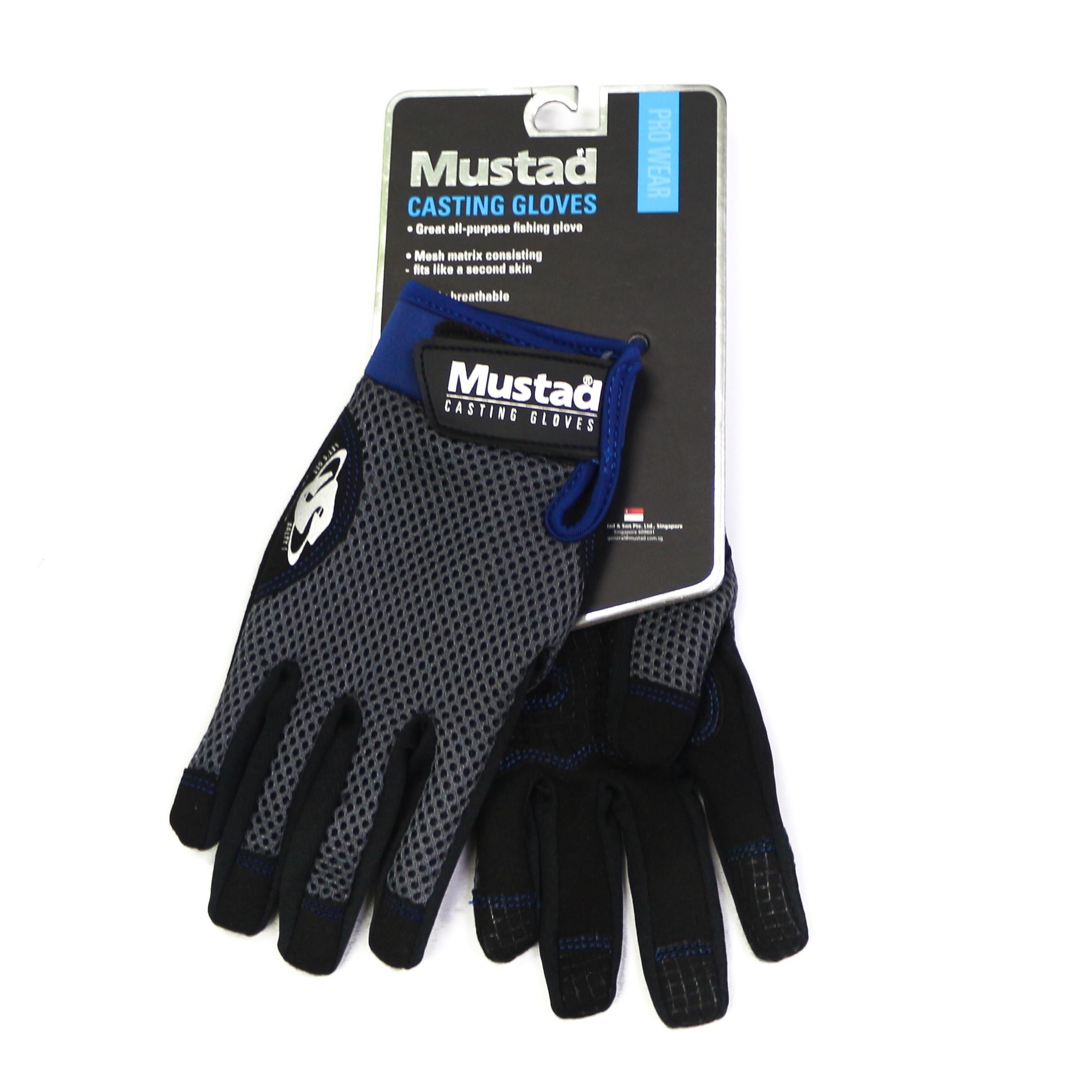 Mustad GL 004 Sun Glove Black/Blue Size S (9437)