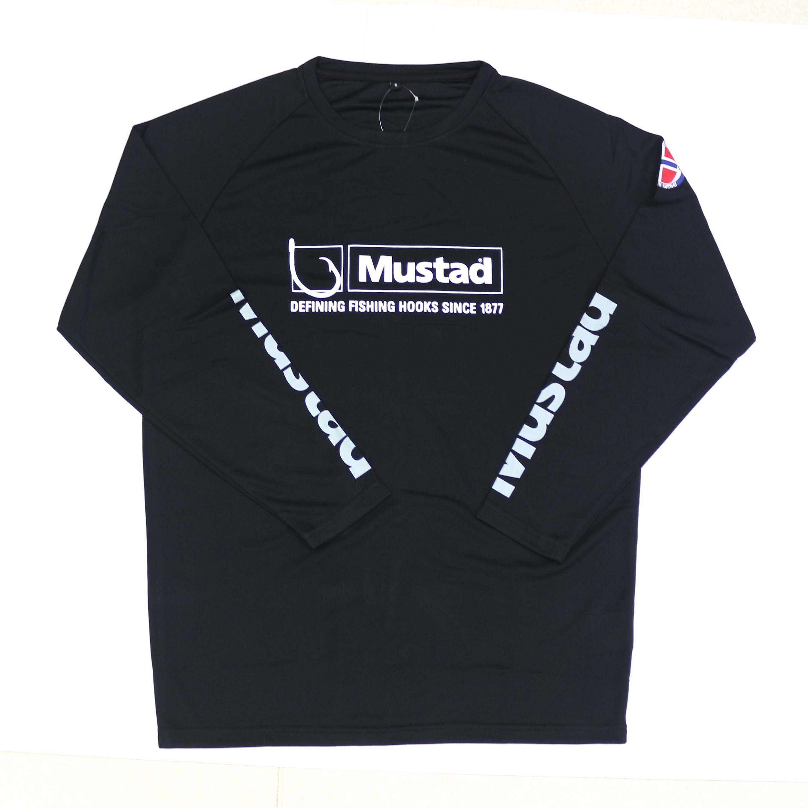 Mustad MCTS01 Long Sleeve Shirt Black Size S (4327)