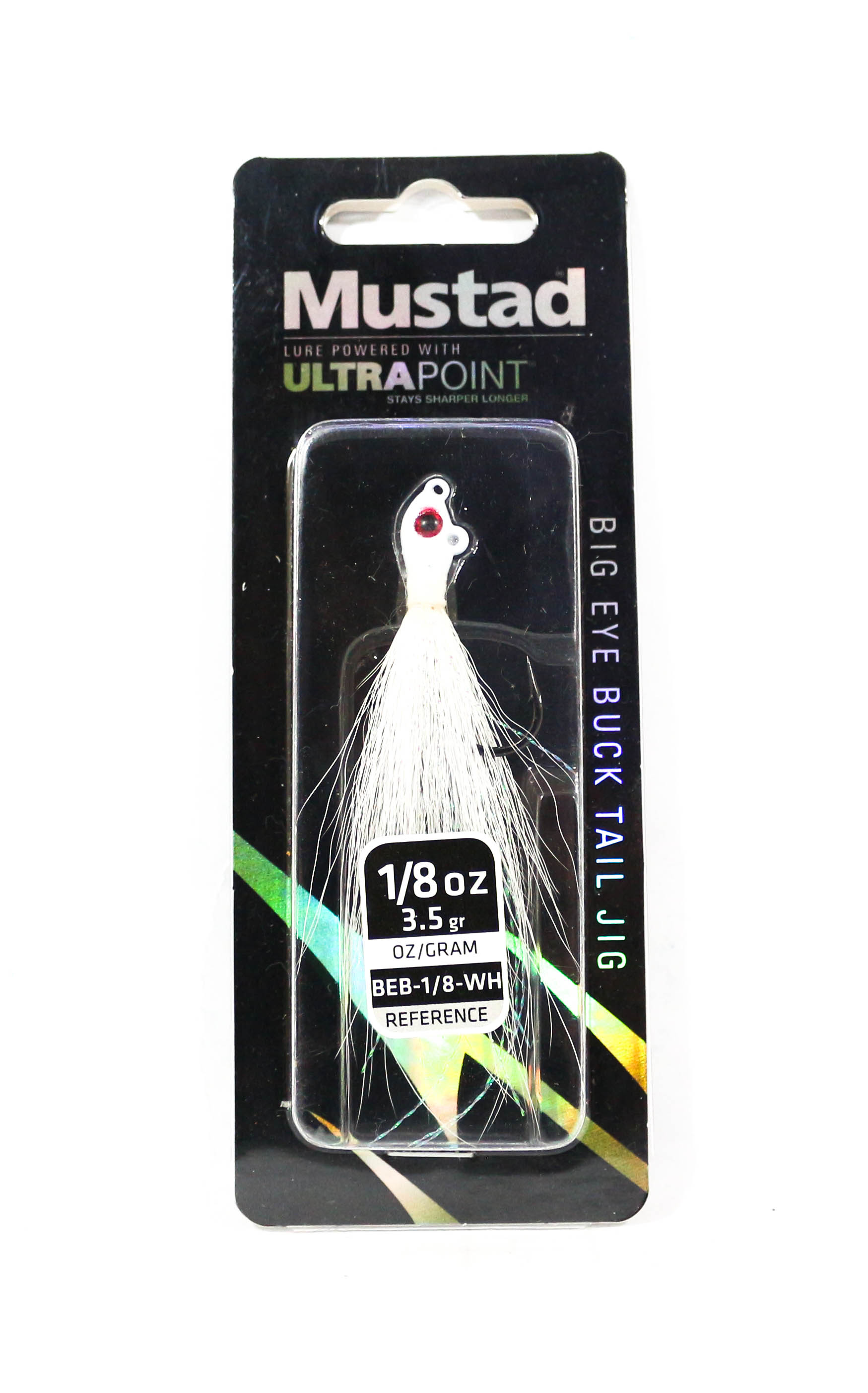 Mustad Big Eye Bucktail 1/8 oz White (0518)