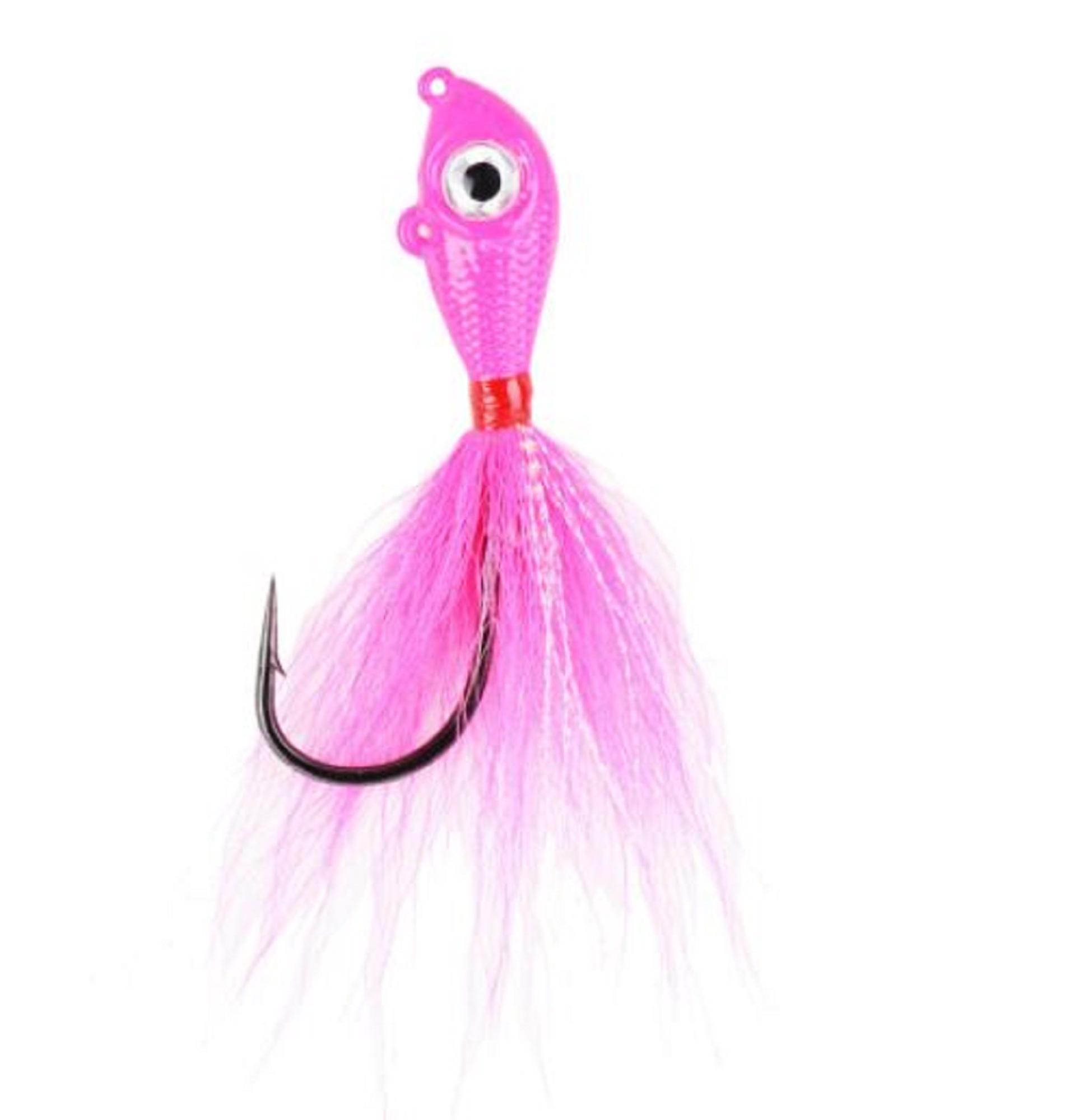 Mustad BEB-1-PK Big Eye Bucktail 1 oz Pink (0921)