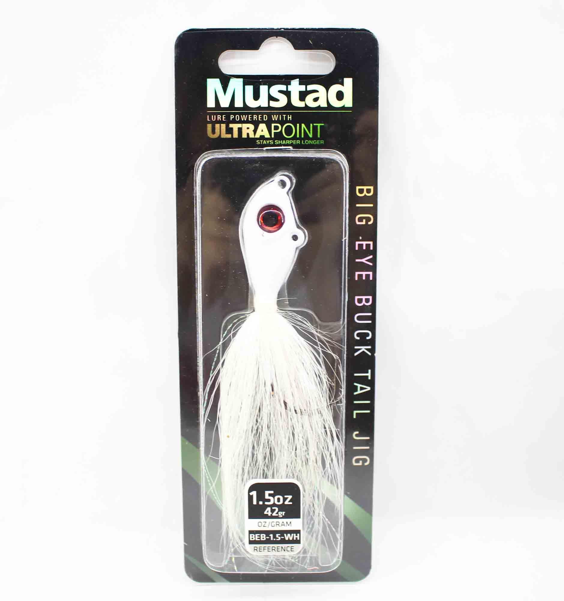 Mustad BEB-1.5-WH Big Eye Bucktail 1.5 oz White (0990)